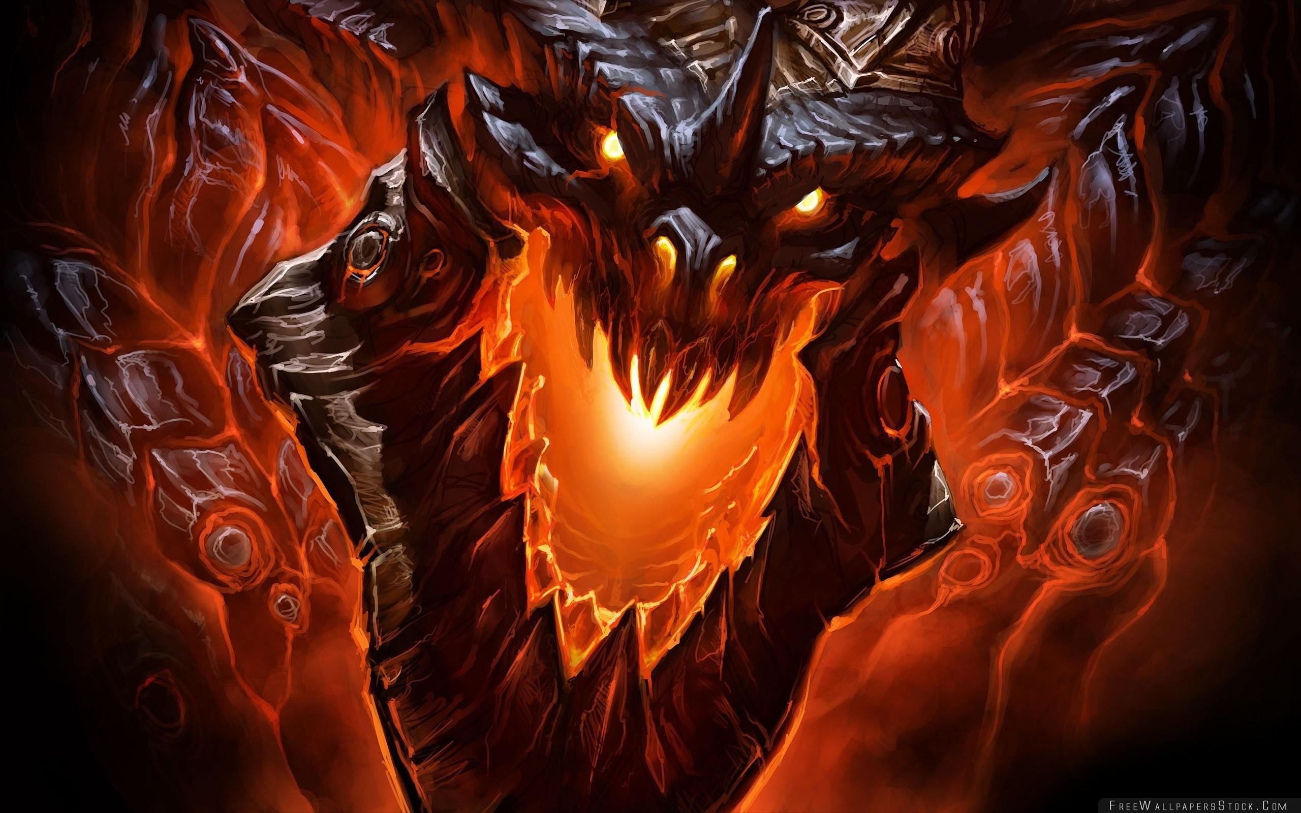 Download Free Wallpaper Monster Mouth Fangs Light