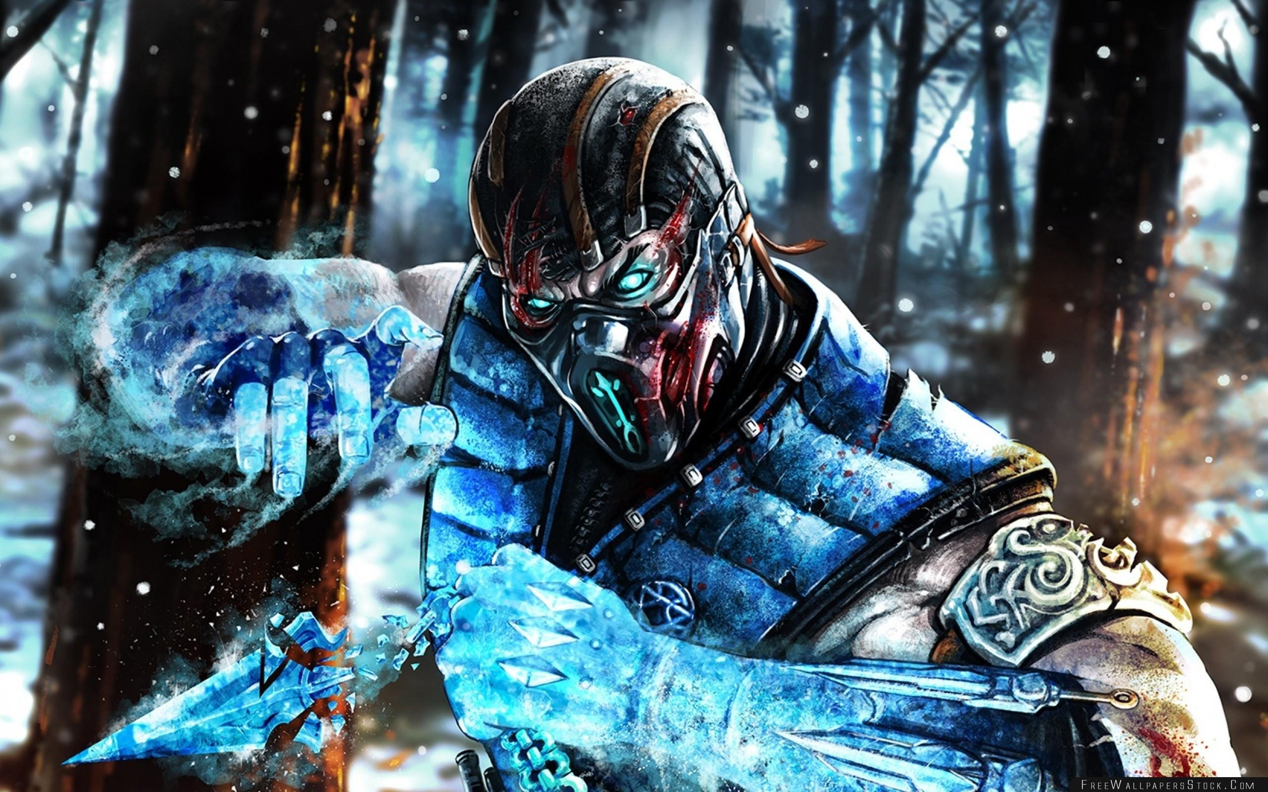 Download Free Wallpaper Mortal Kombat Sub Zero Ninja Art