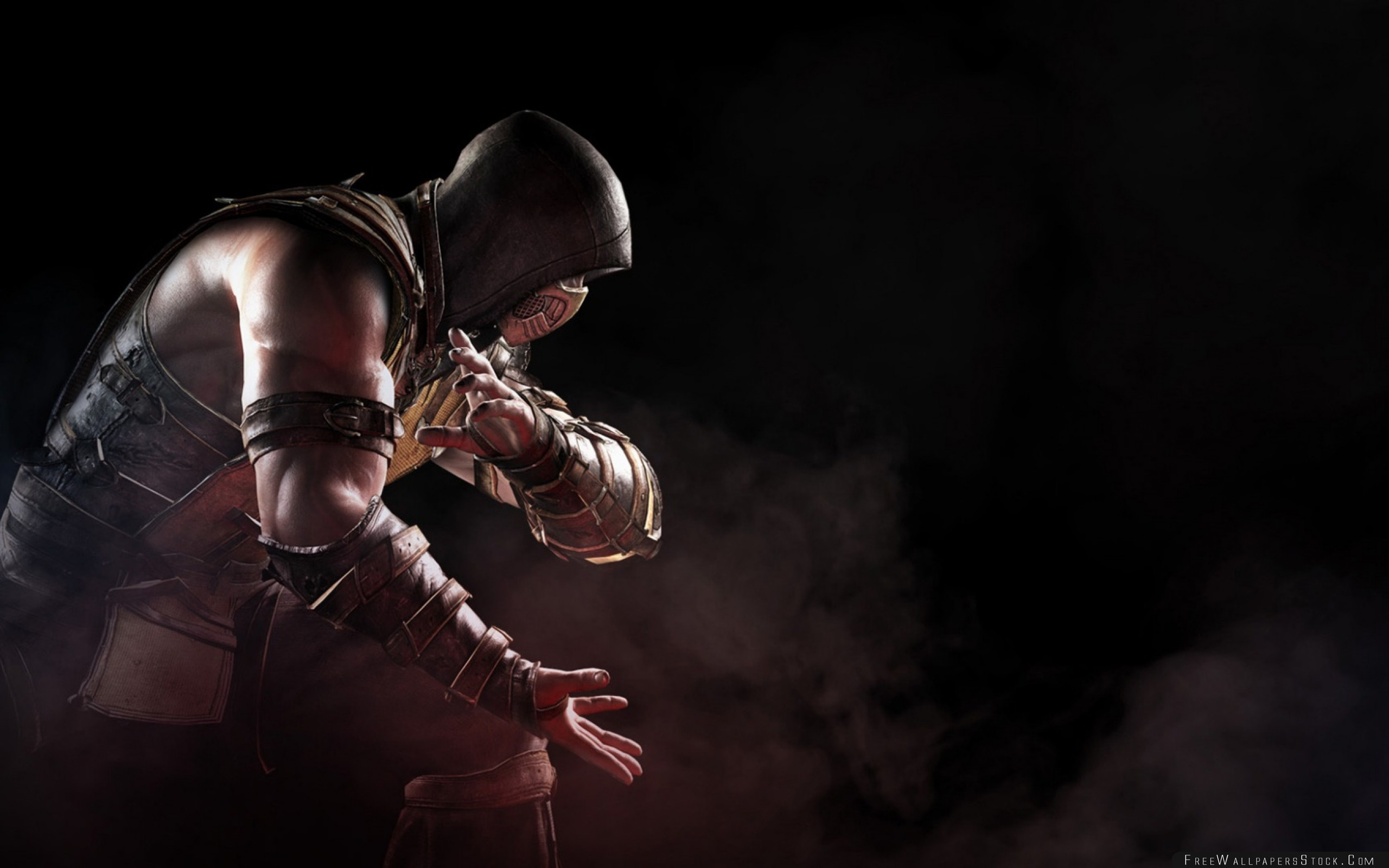Download Free Wallpaper Mortal Kombat   Scorpion Soldier Art
