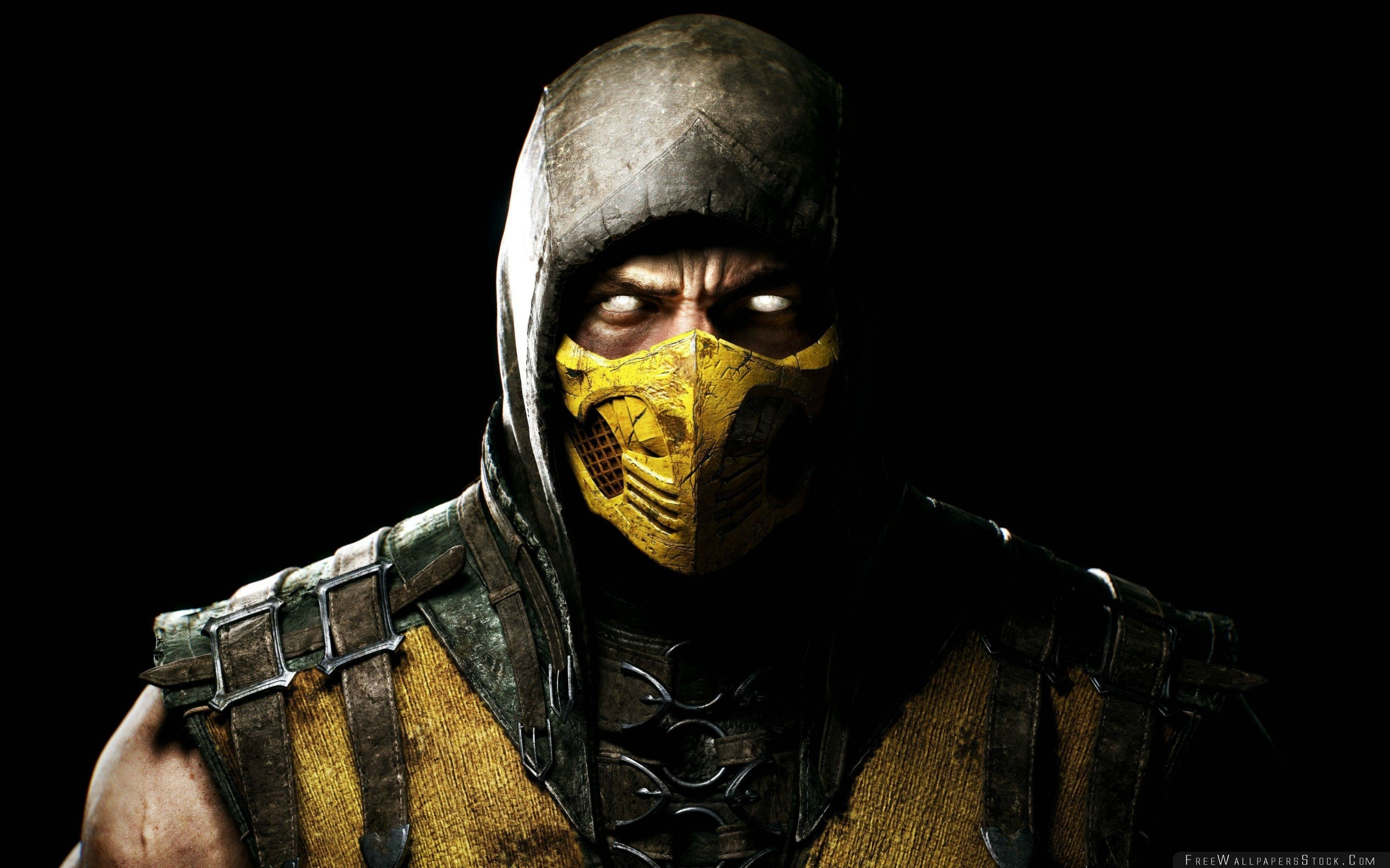 Download Free Wallpaper Mortal Kombat   Scorpio Ninja Mask