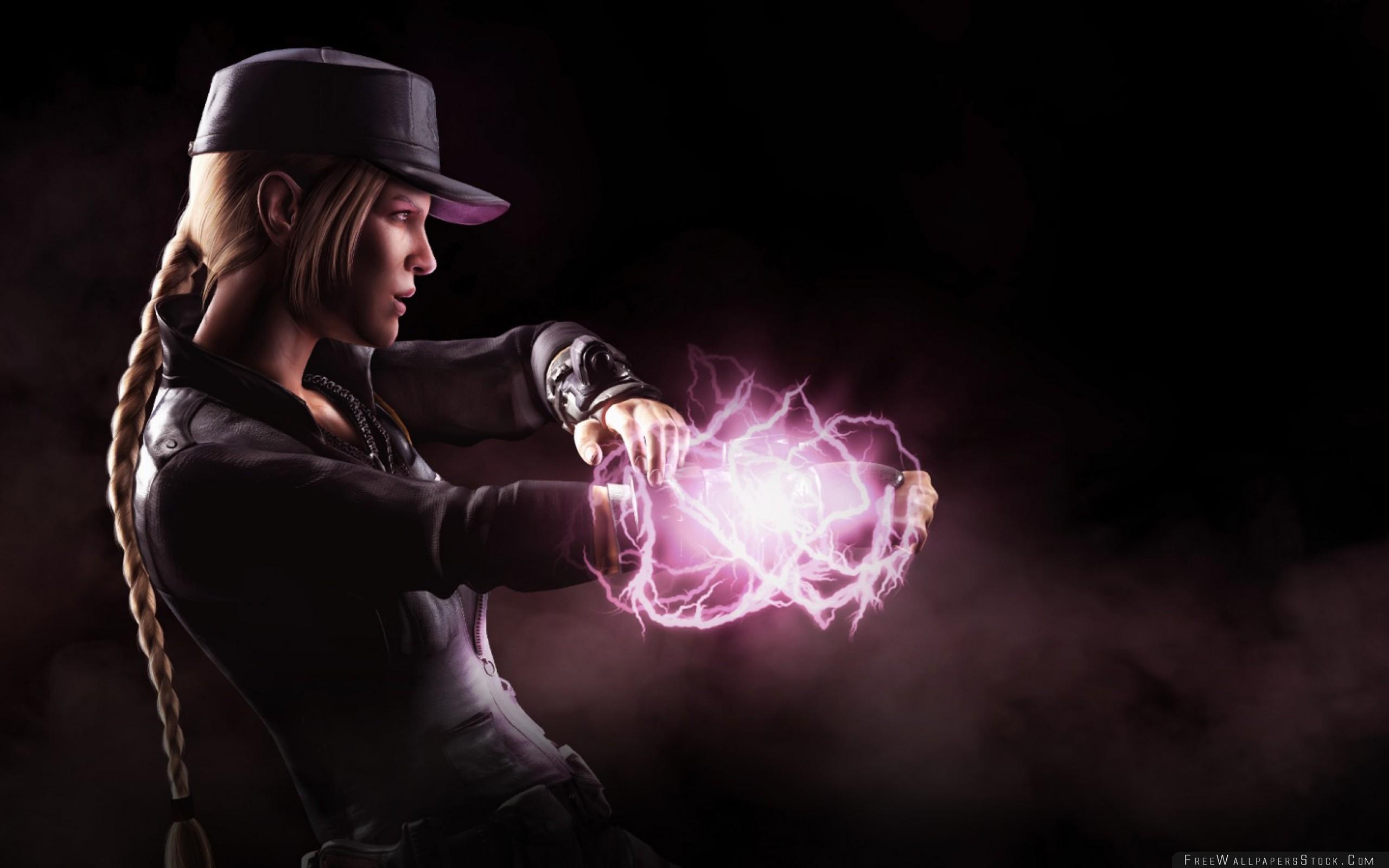 Download Free Wallpaper Mortal Kombat   Sonya Blade Fighter Lightning