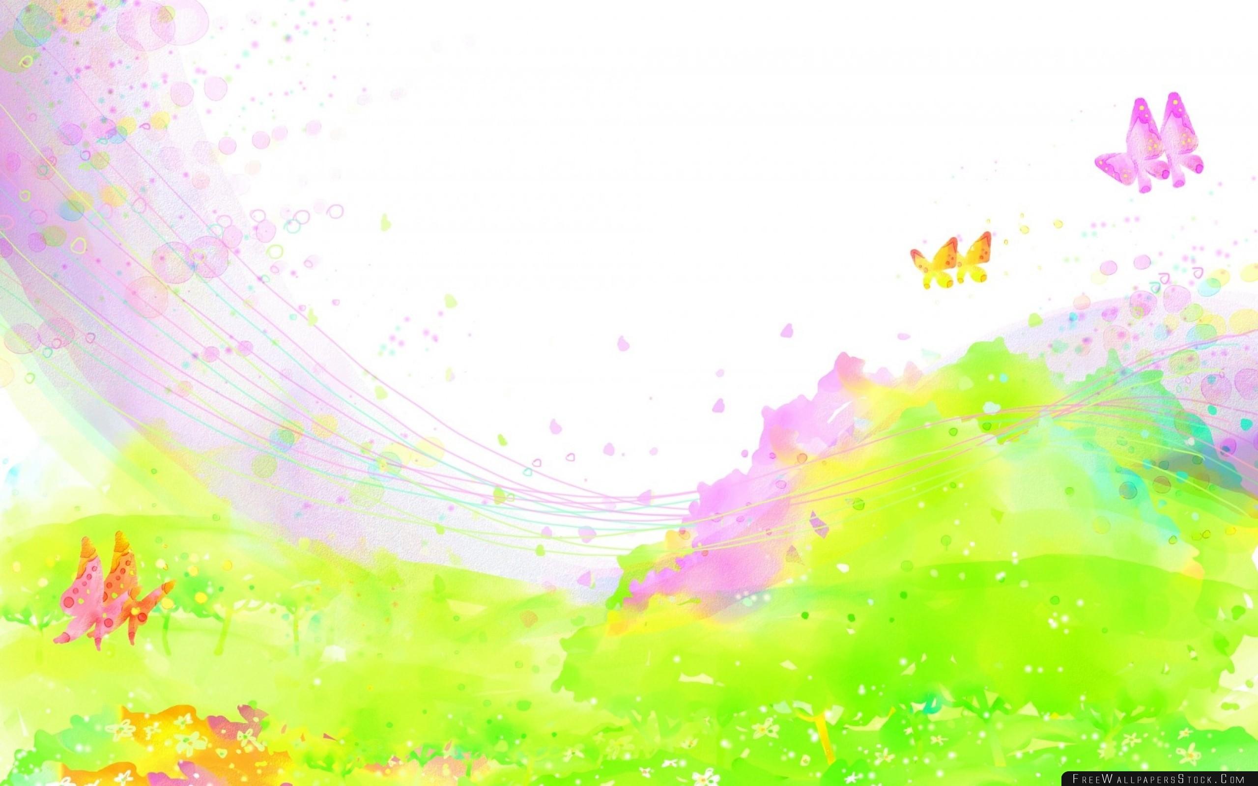 Download Free Wallpaper Paint Spray Field Flowers Butterflies
