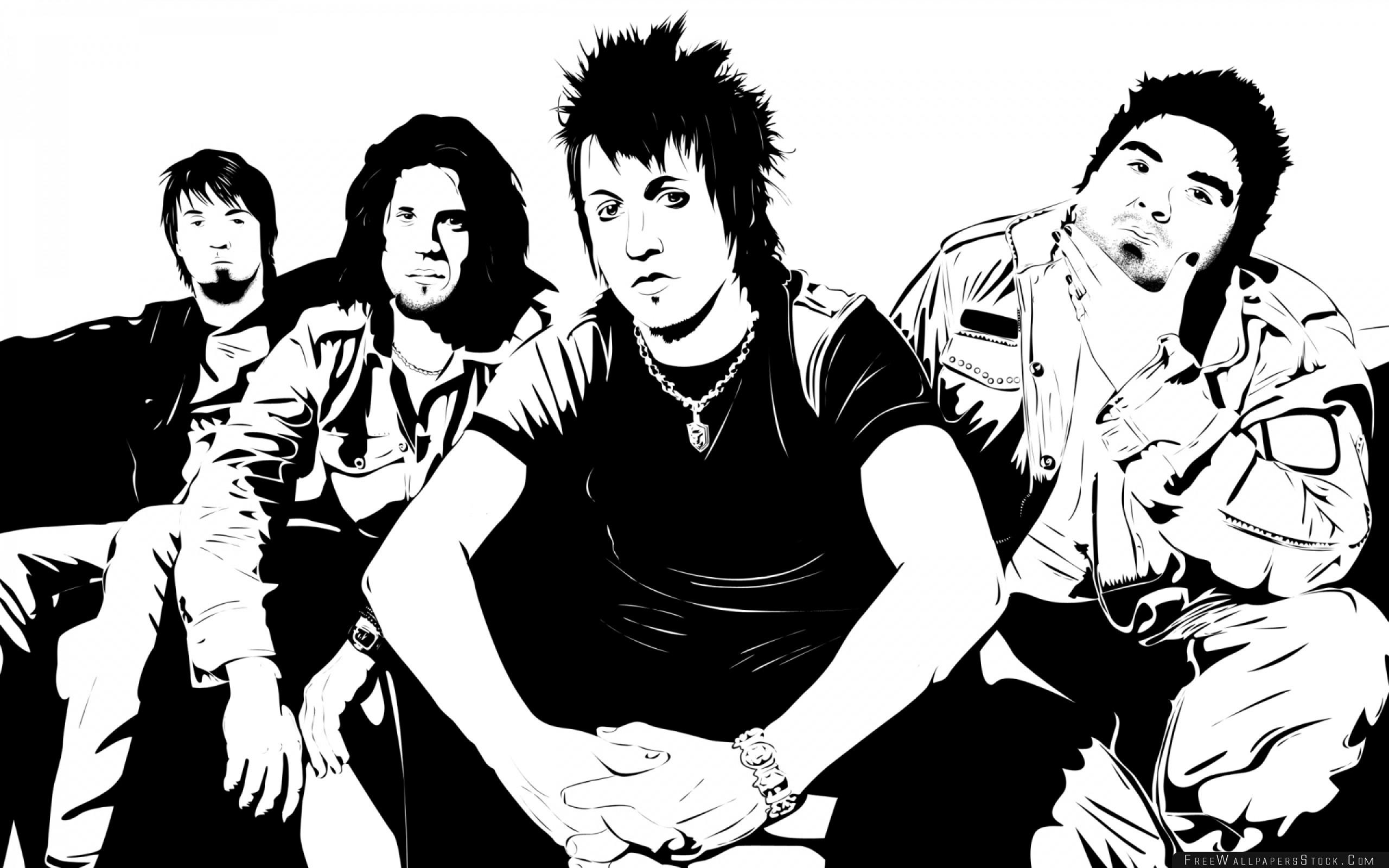 Download Free Wallpaper Papa Roach Members Band Look Chain