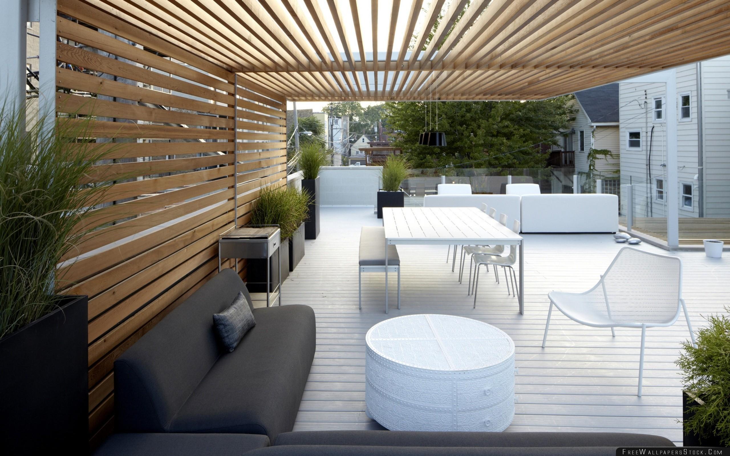 Download Free Wallpaper Patio Garden White Furniture