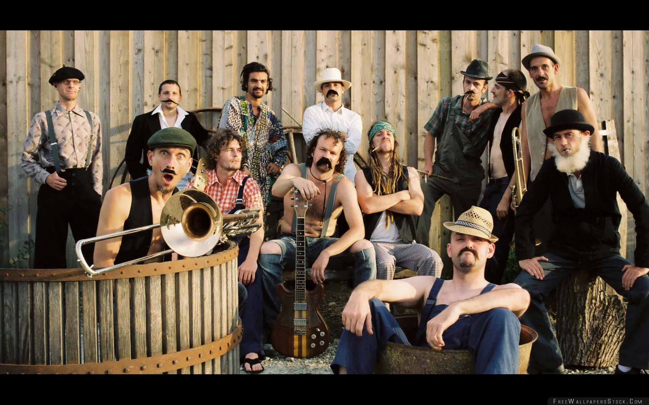 Download Free Wallpaper Percubaba Band Instruments Mustache Wall