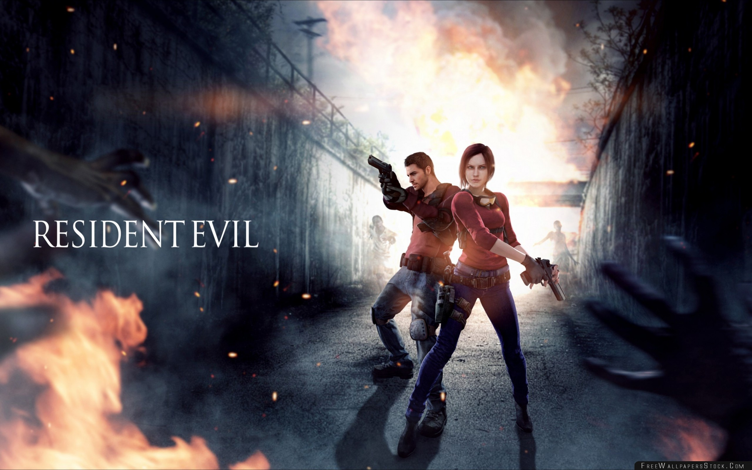 Download Free Wallpaper Resident Evil Claire Redfield Chris