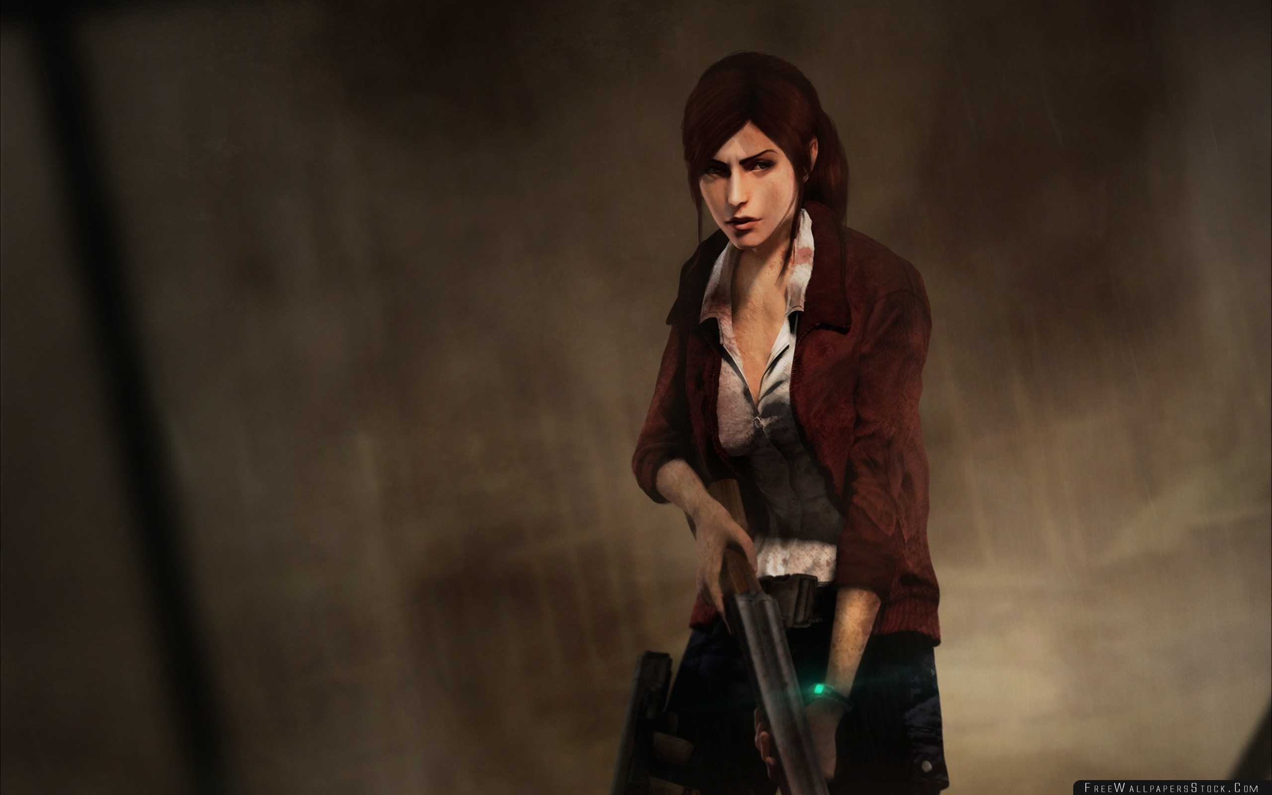 Download Free Wallpaper Resident Evil Revelations Claire Redfield Girl Weapons
