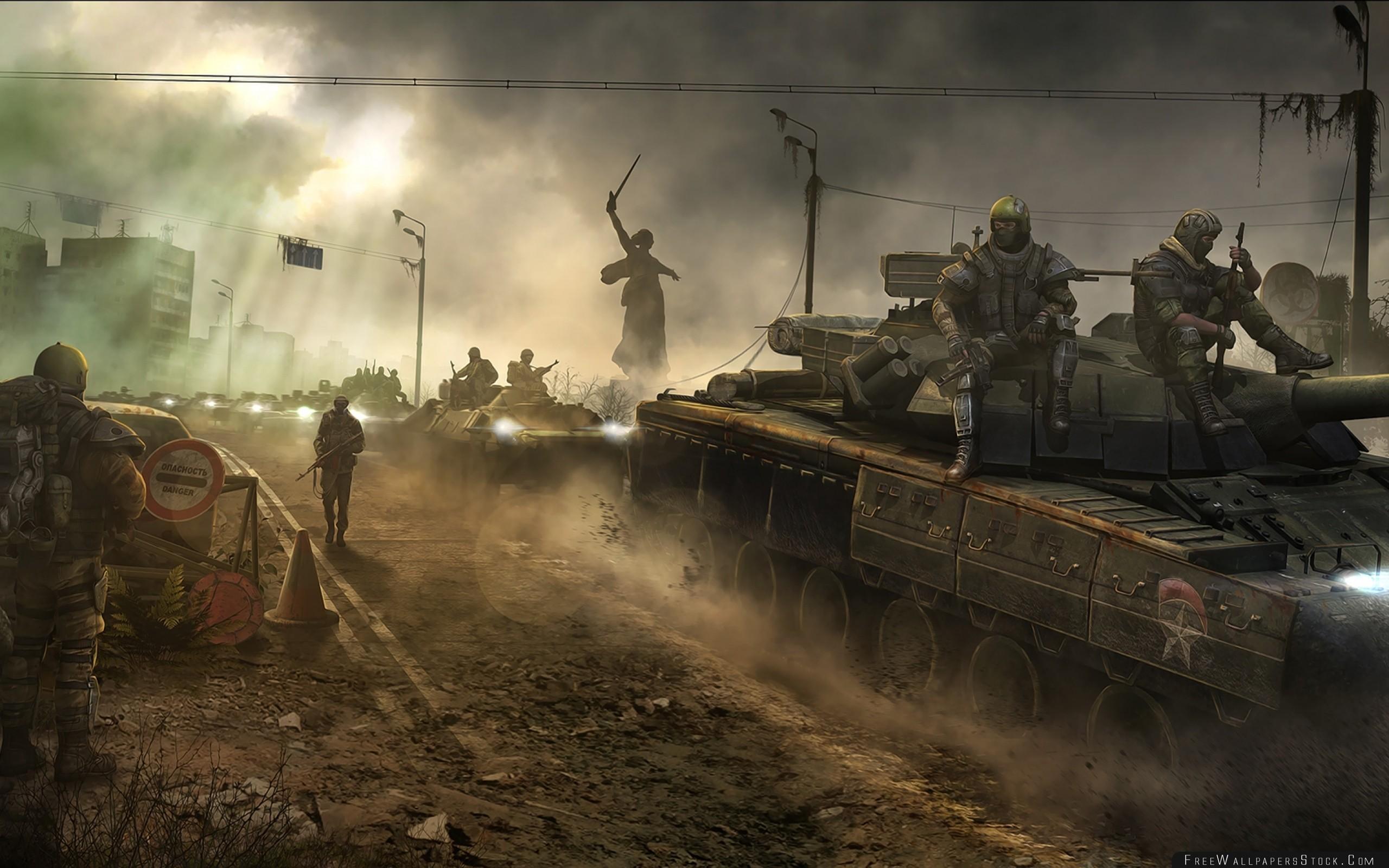 Download Free Wallpaper Survarium Soldiers War Survival Areas Tanks Stalkers