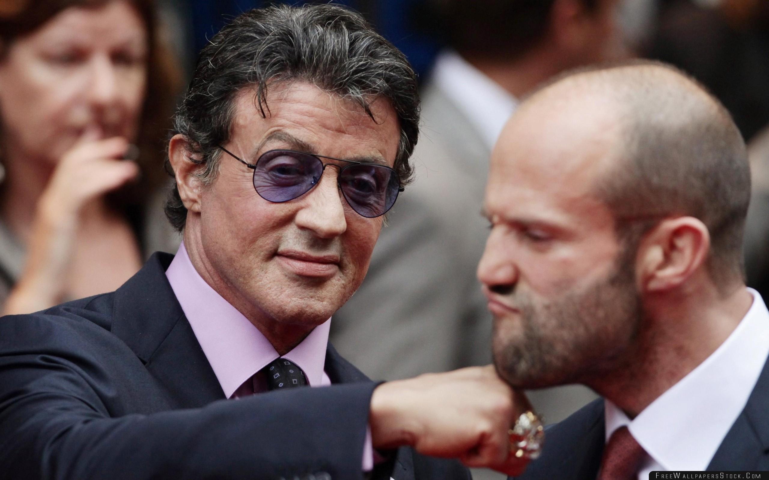 Download Free Wallpaper Sylvester Stallone Jason Statham Celebrities Humor