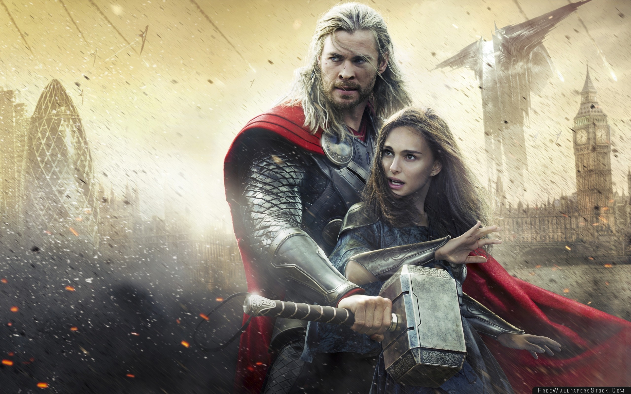 Download Free Wallpaper Thor The Dark World Chris Hemsworth Natalie Portman Jane Foster