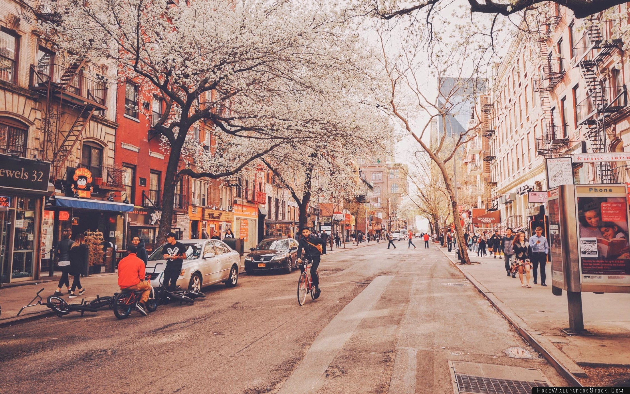 Download Free Wallpaper United States New York Street City People