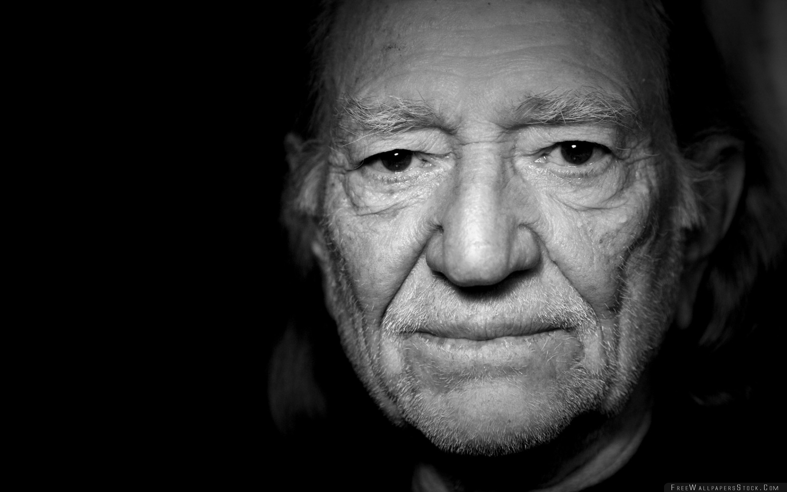 Download Free Wallpaper Willie Nelson Face Look Bristle Shadow