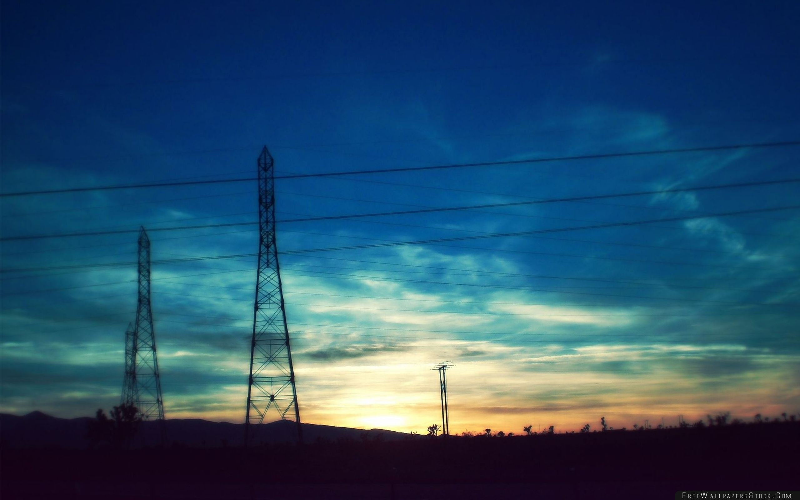 Download Free Wallpaper Wire Sky Sunset