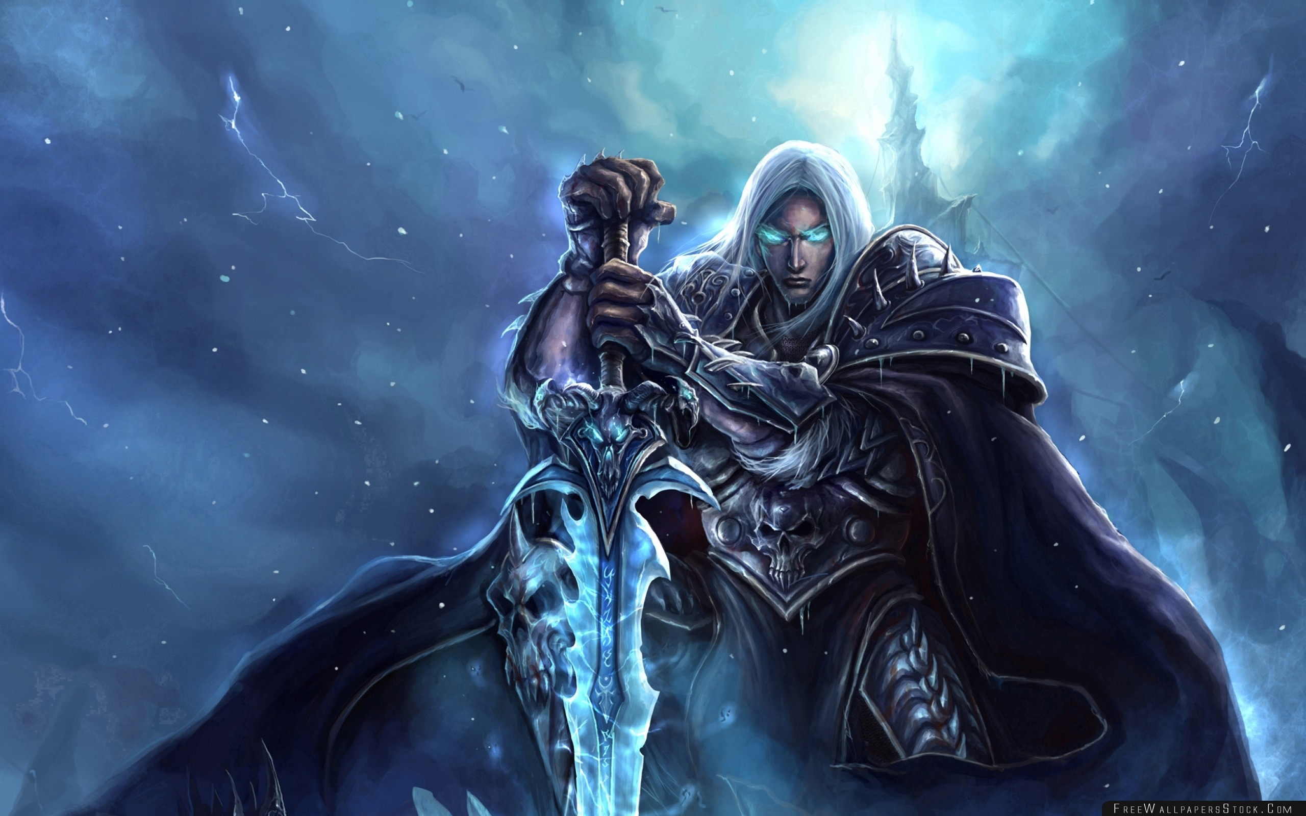 Download Free Wallpaper World   Warcraft Lich King Arthas Menethil