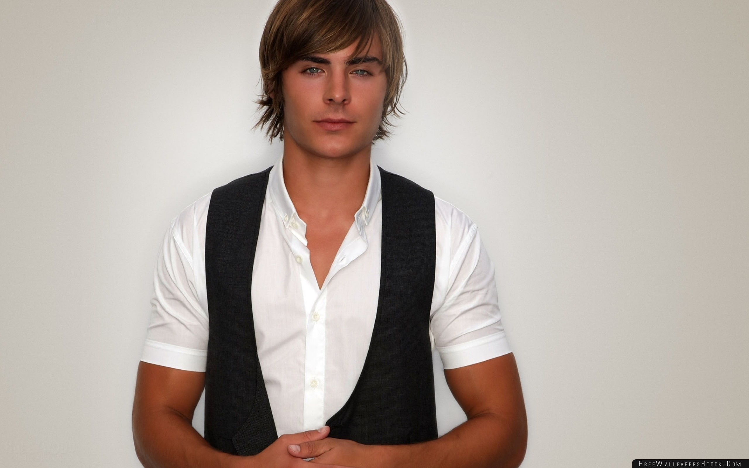 Download Free Wallpaper Zac Efron Shirt Vest Young Man Boy Blond