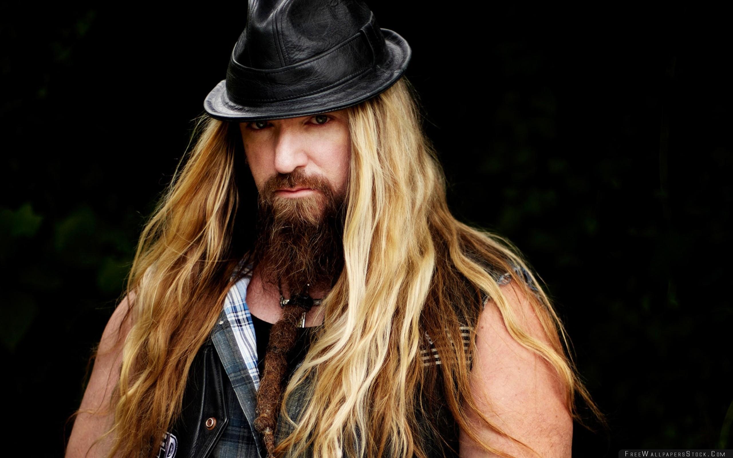 Download Free Wallpaper Zakk Wylde Hair Beard Hat Shoulders