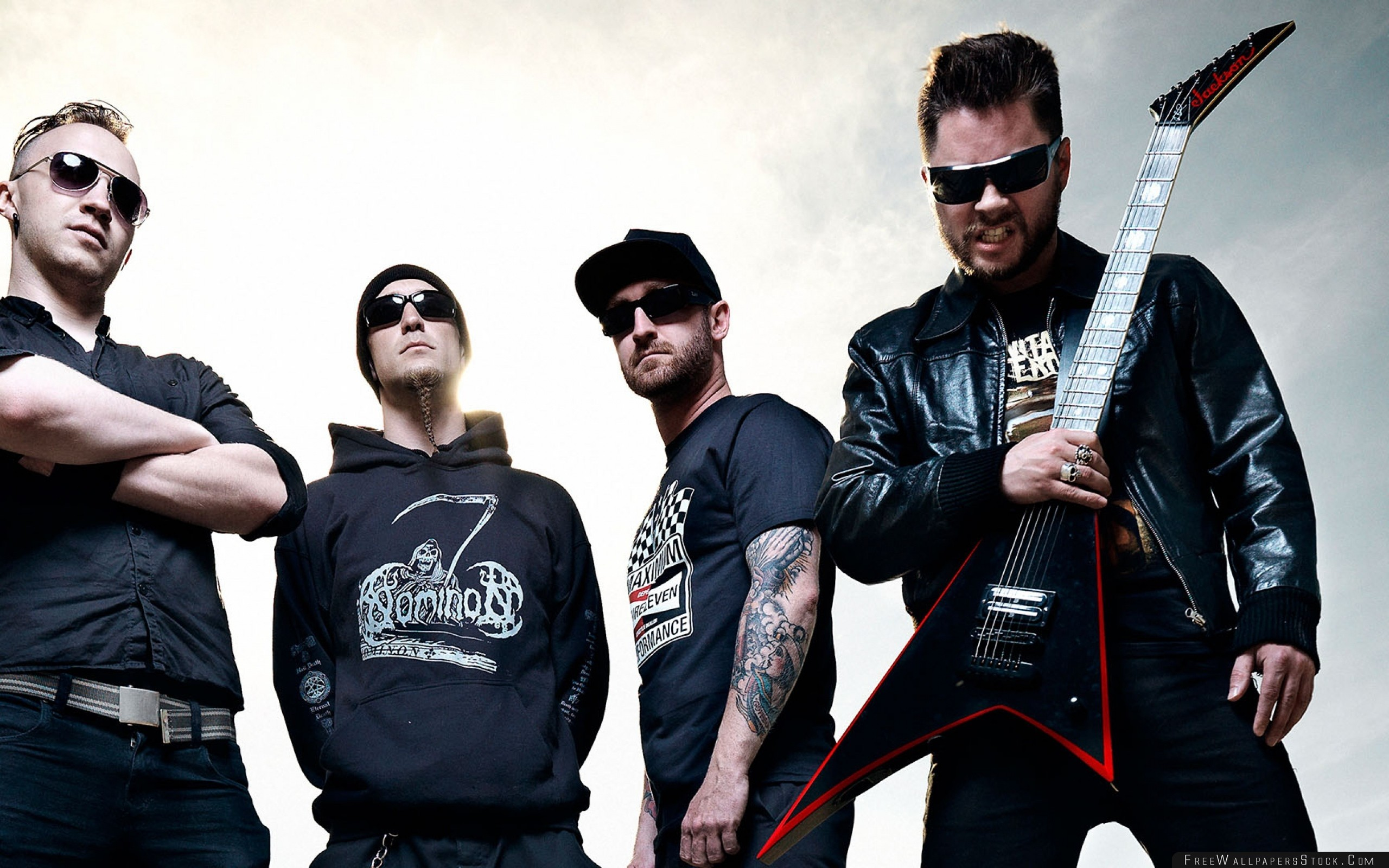Download Free Wallpaper Zombiekrig Guitar Glasses Tattoo Sky