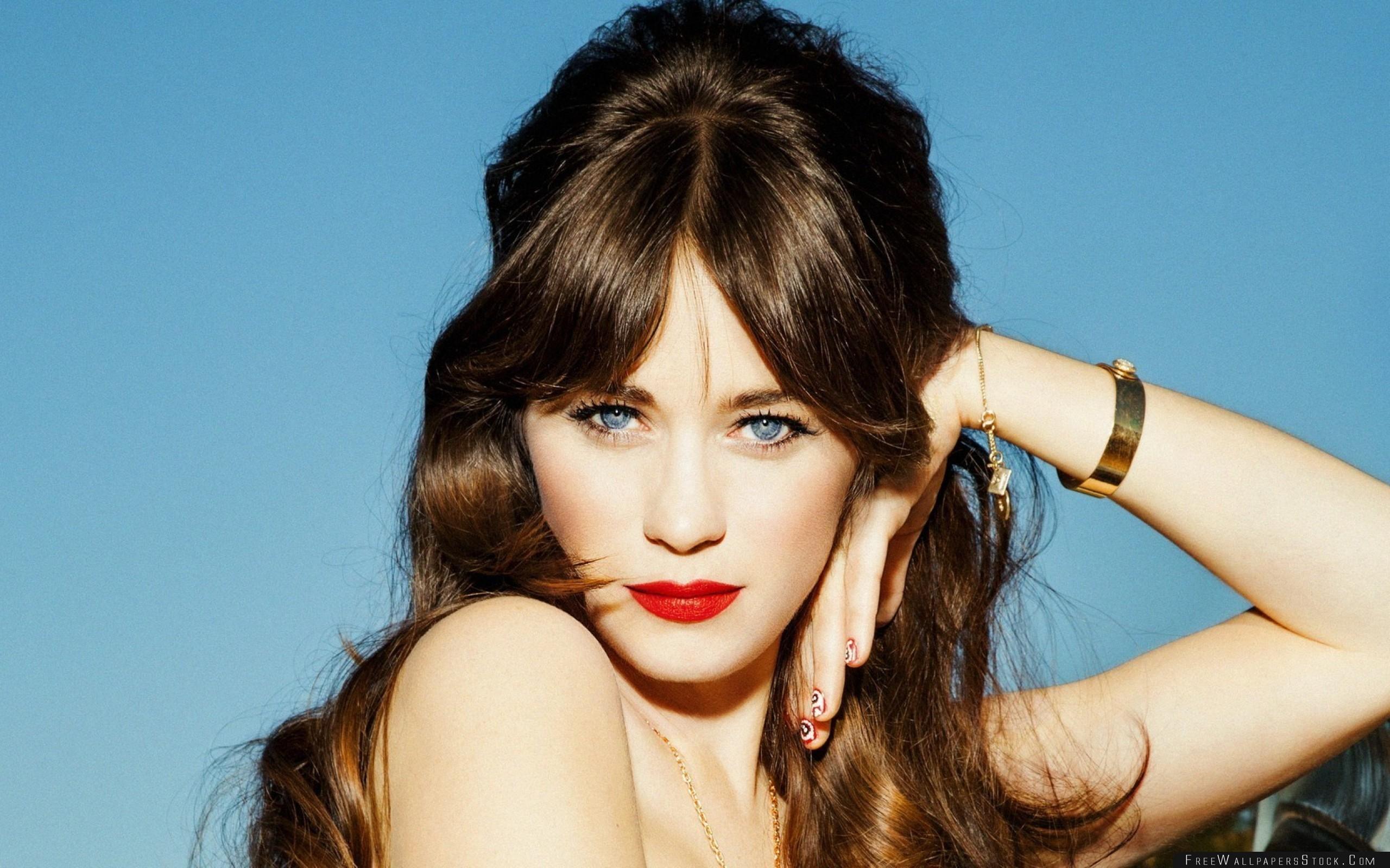 Download Free Wallpaper Zooey Deschanel Actress Celebrity Makeup