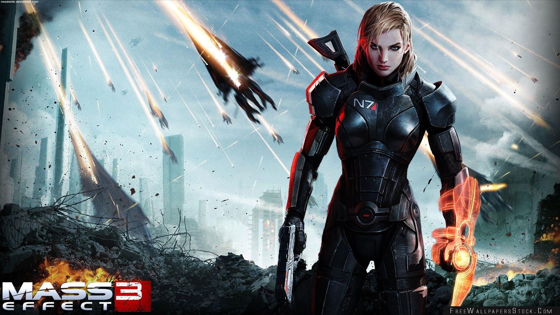 Download Free Wallpaper Mass Effect Female Shepard