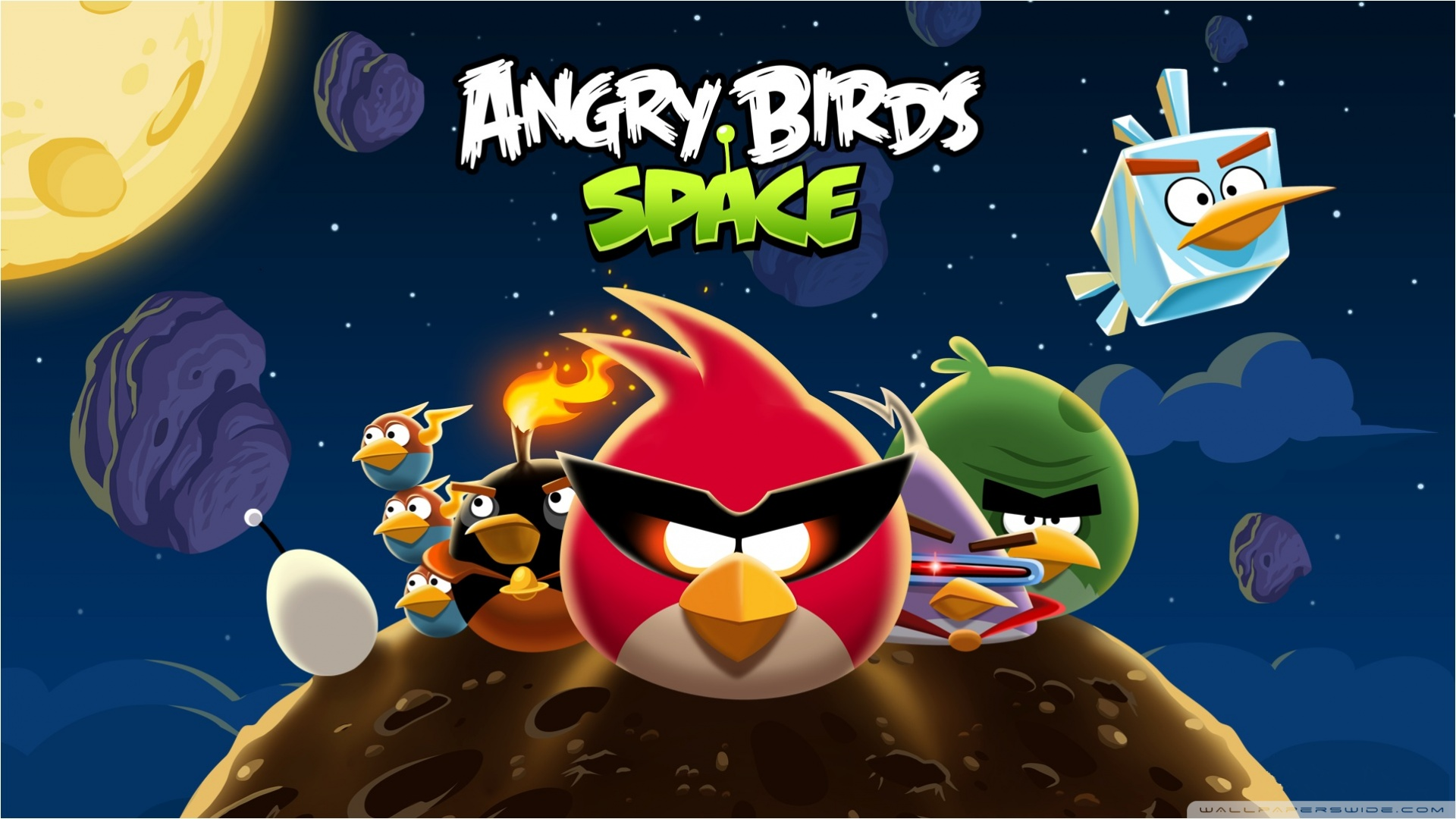 Download Free WallpaperAngry Birds Space