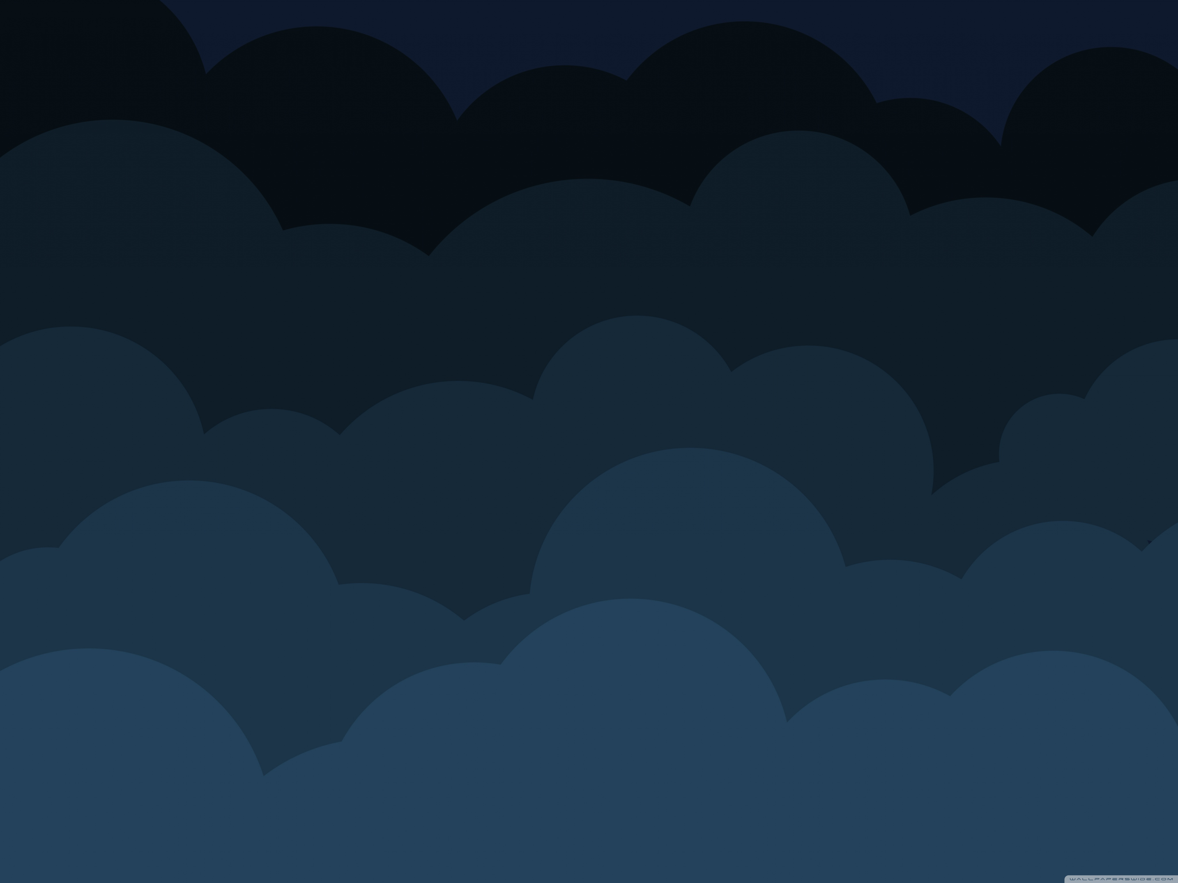 Download Free WallpaperDark Cartoon Clouds