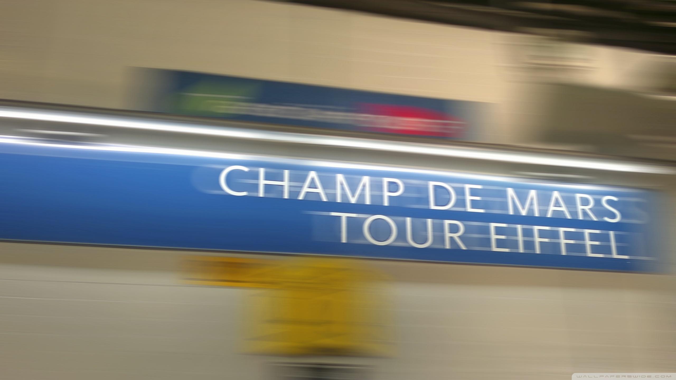 Download Free WallpaperEiffel Tower Paris Underground