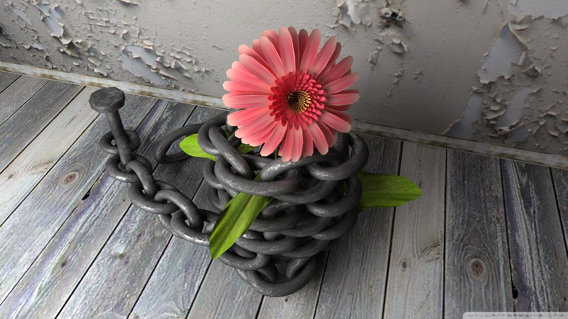 Download Free WallpaperFlower With Chain