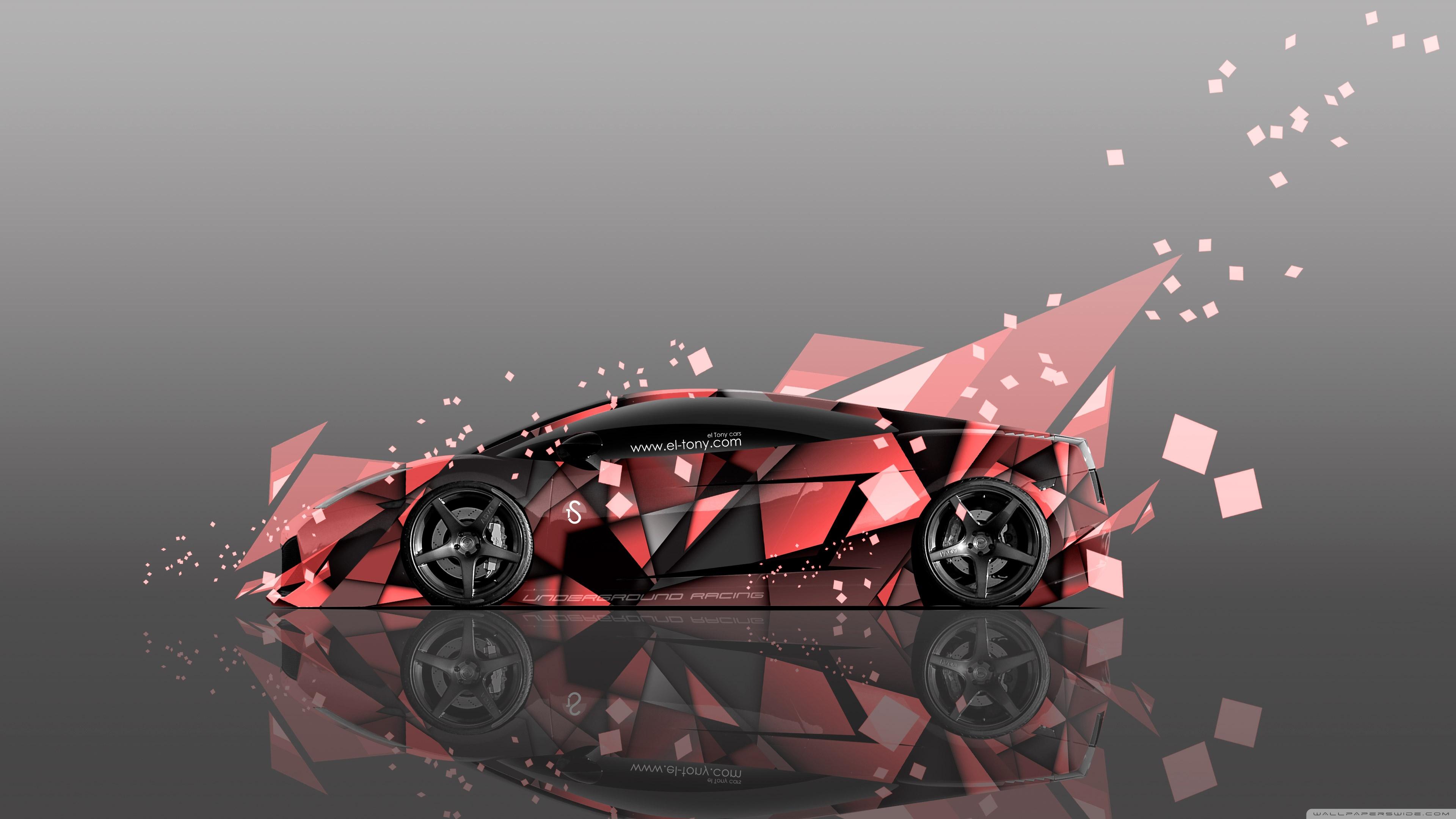 Download Free WallpaperLamborghini Gallardo Side Abstract Aerography Car Design   Tony Kokhan