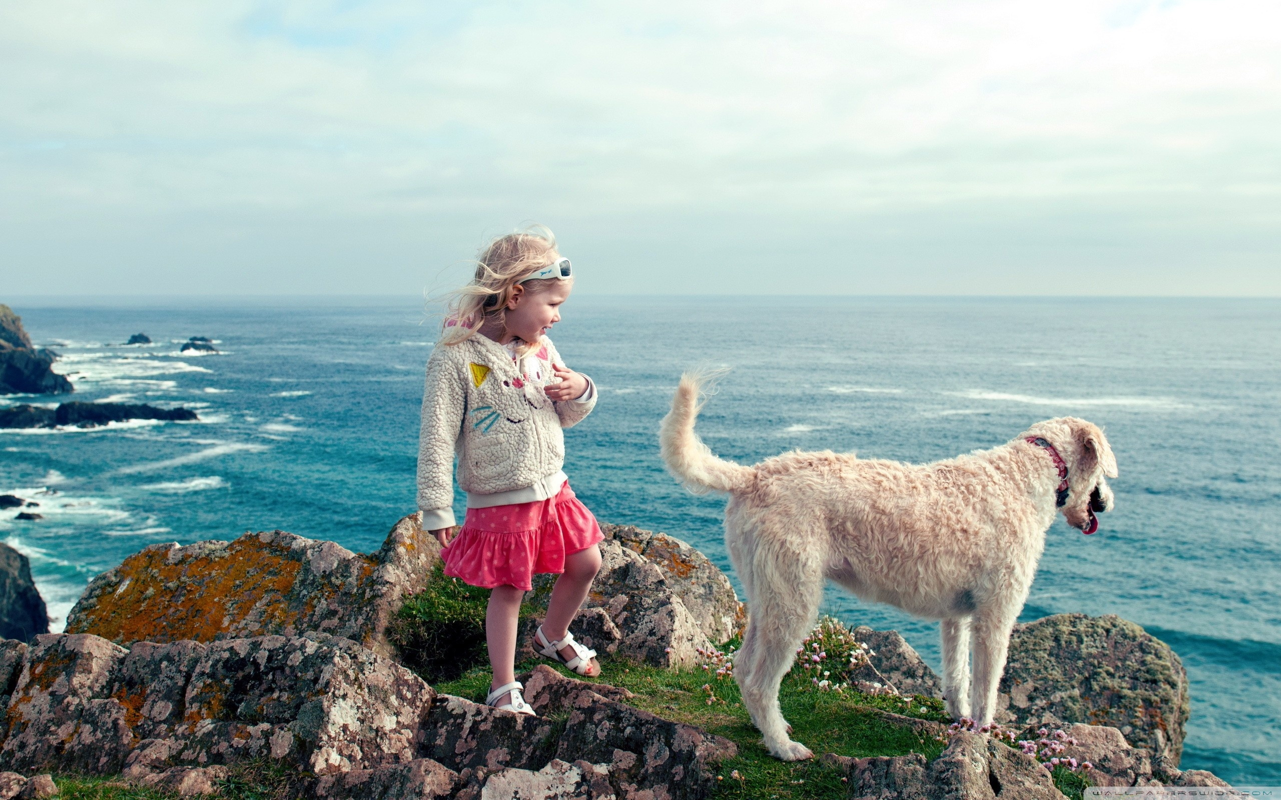Download Free WallpaperLittle Girl And Her Dog