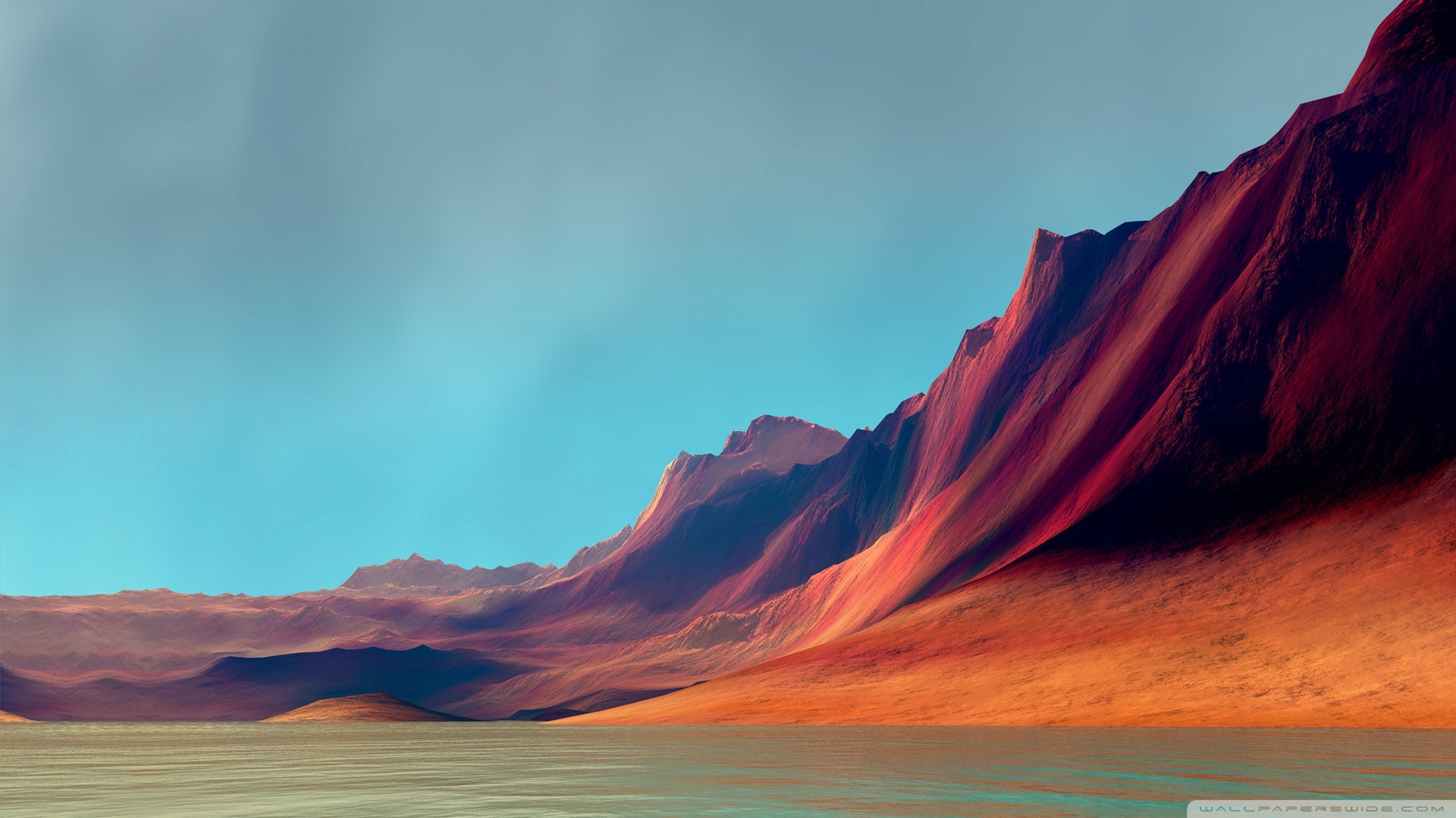 Download Free WallpaperRed Mountains   Flex
