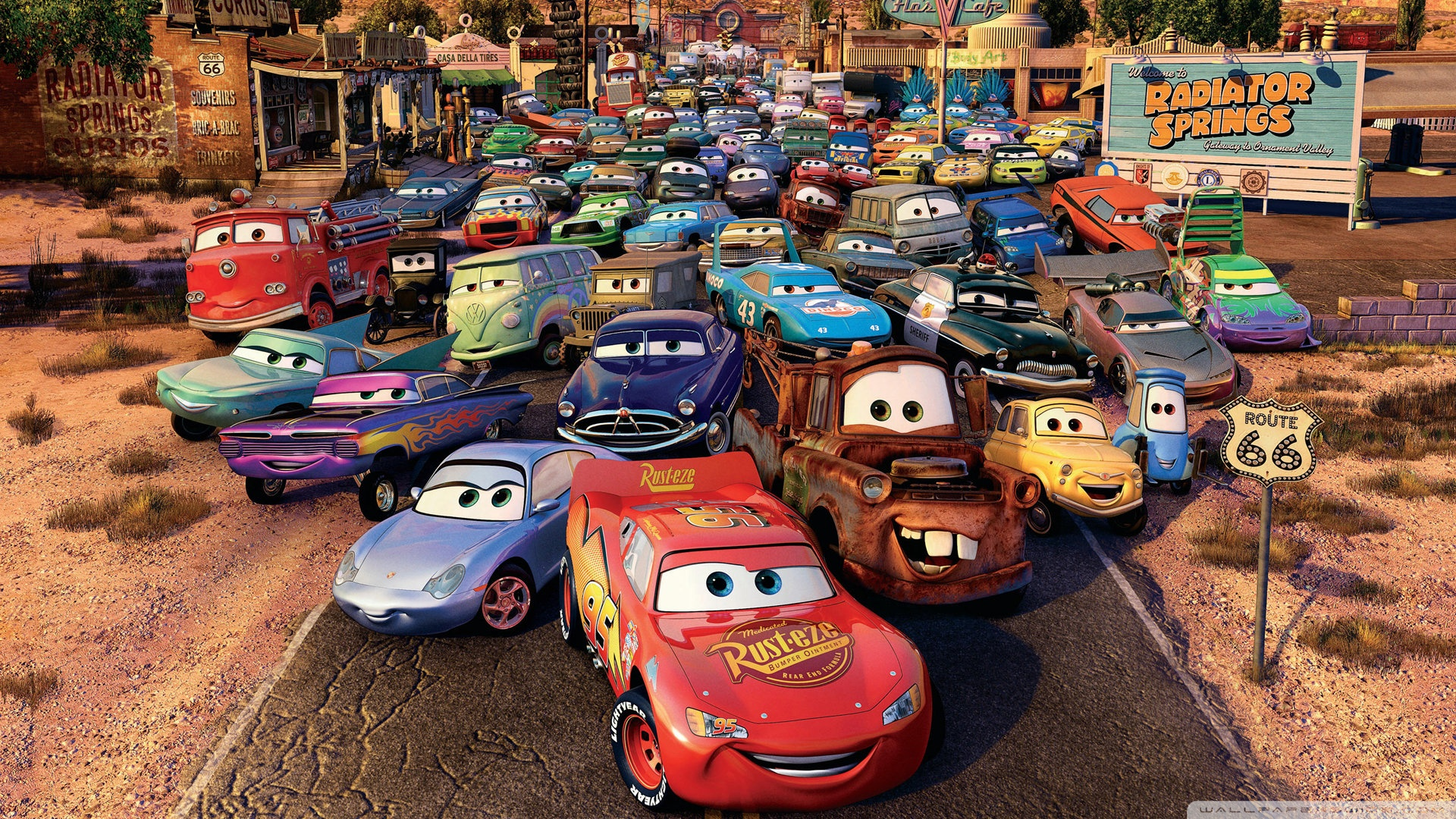Download Free WallpaperRoute Cars Movie