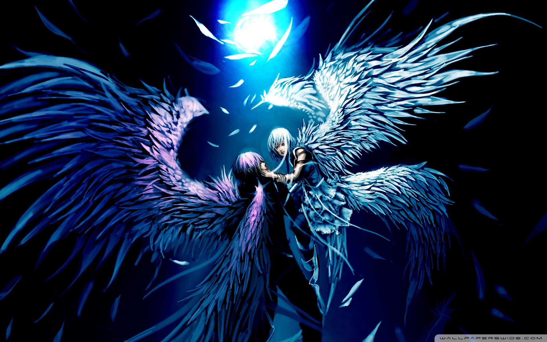 Download Free WallpaperTwo Angels Love Anime
