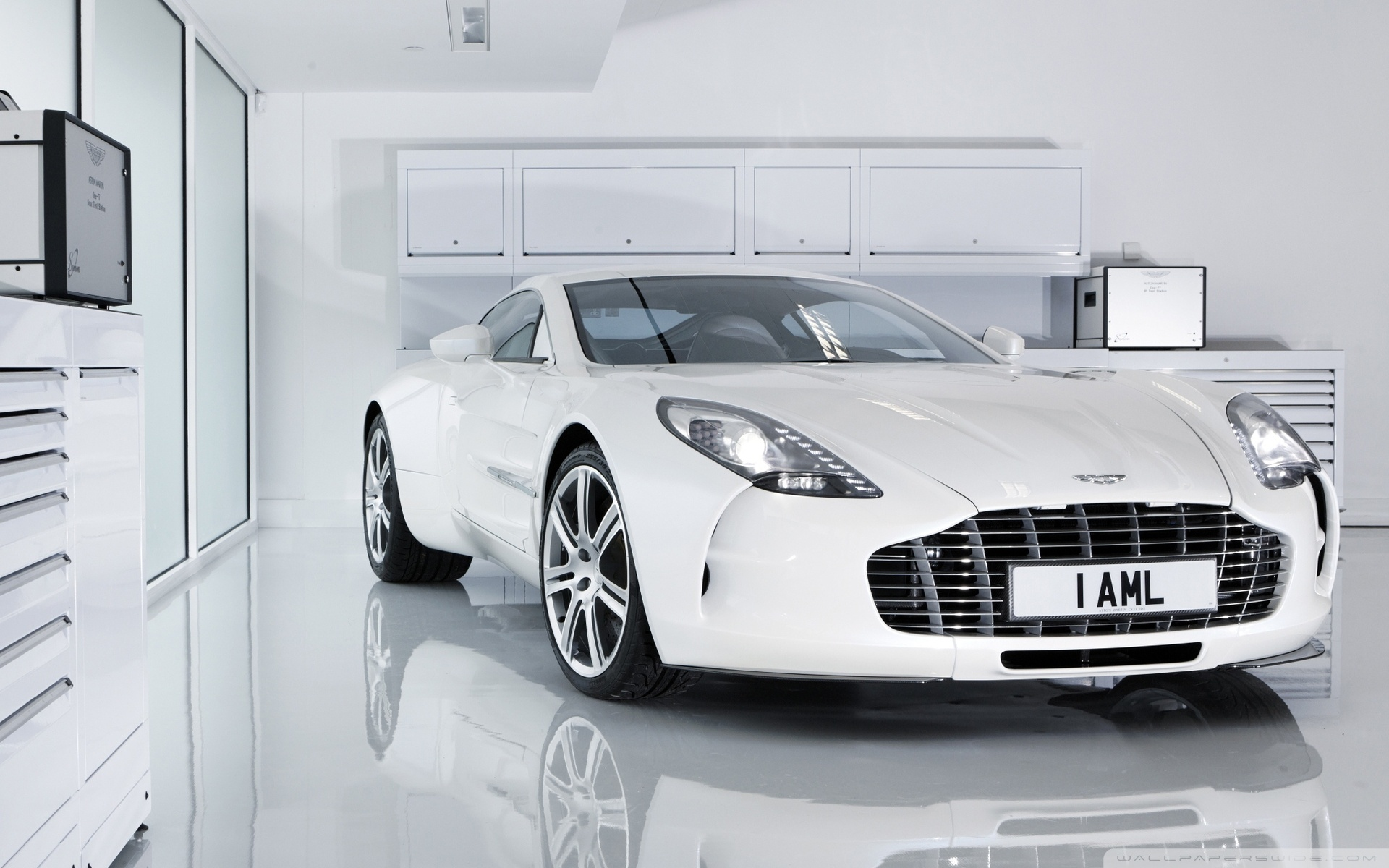 Download Free WallpaperWhite Aston Martin One