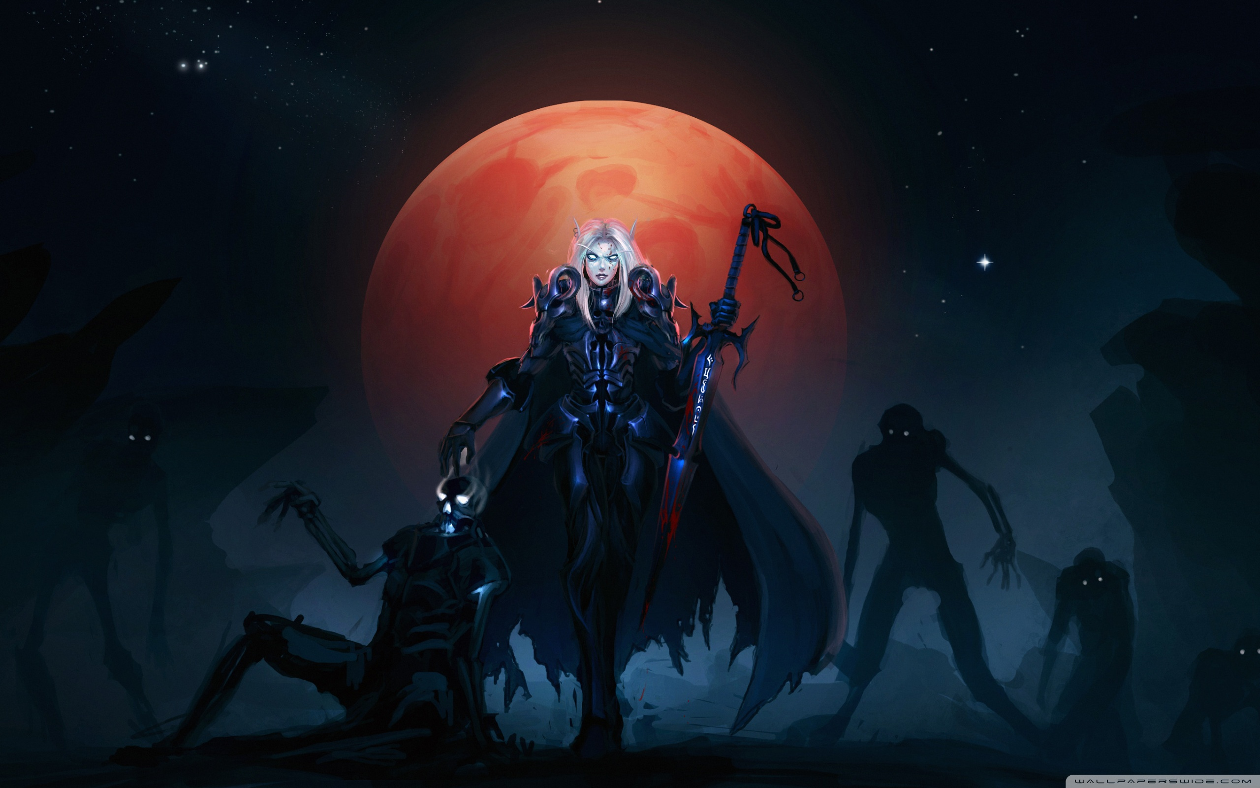 Download Free WallpaperWow Death Knight Blood Elves