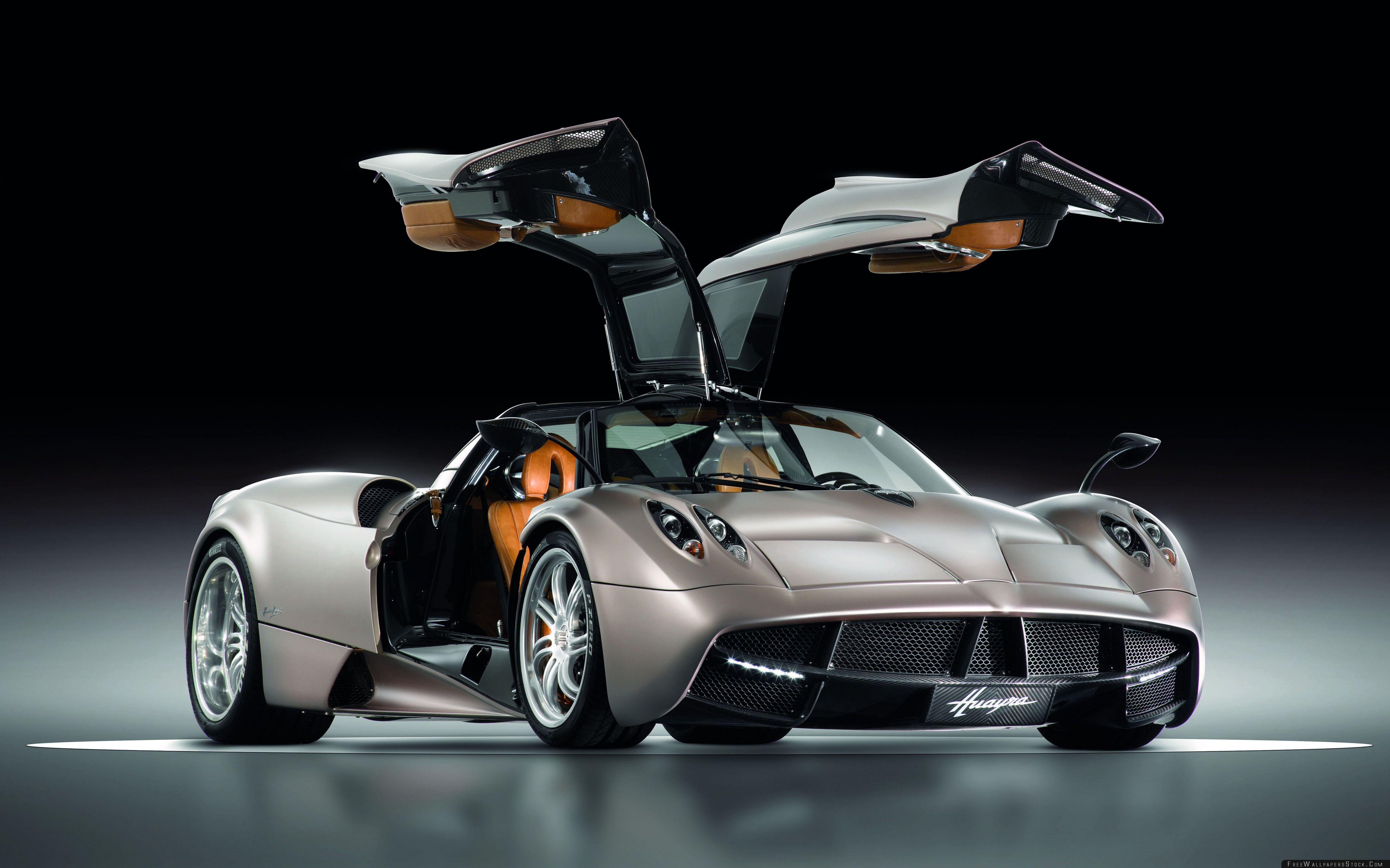 Download Free Wallpaper Pagani Huayra Gunmetal Front Side View