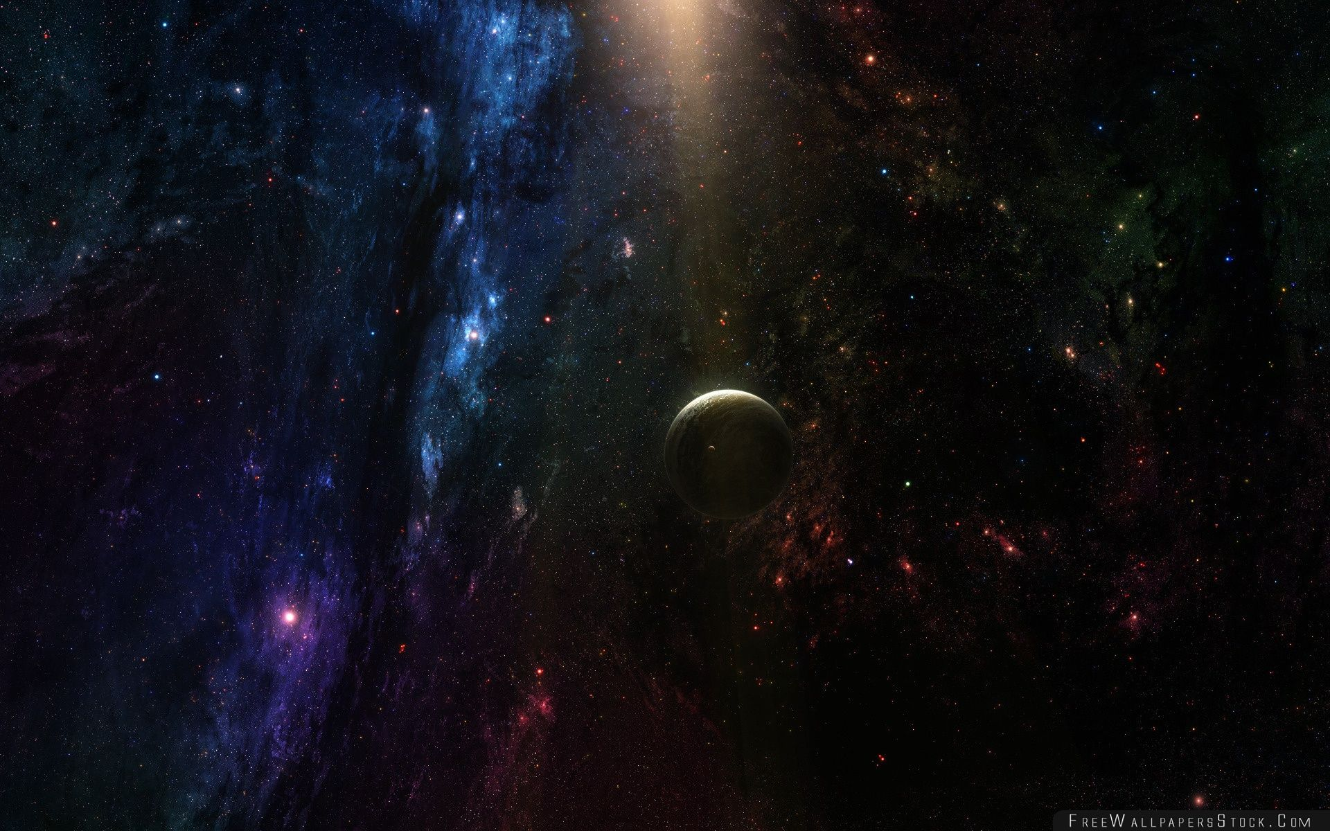Download Free Wallpaper Planet   Deep Space