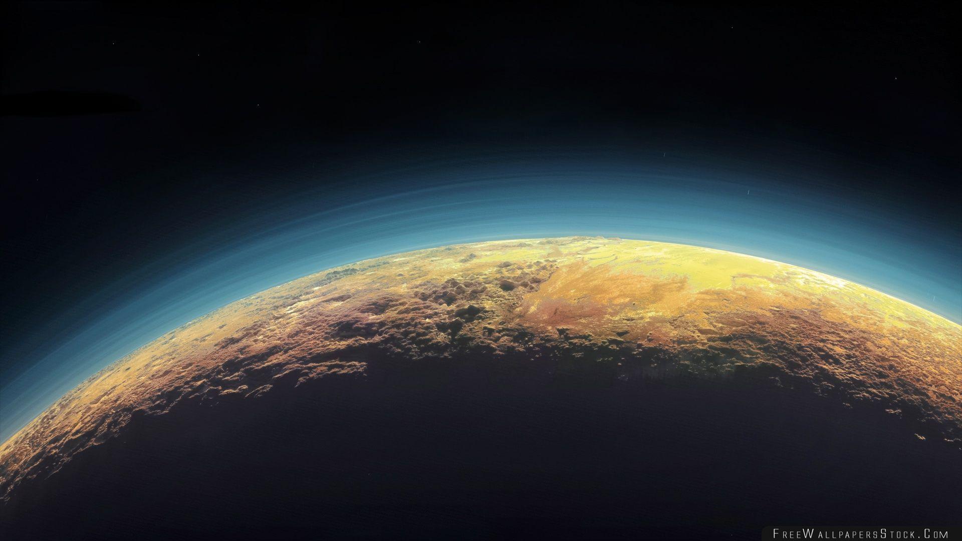 Download Free Wallpaper Pluto Horizon