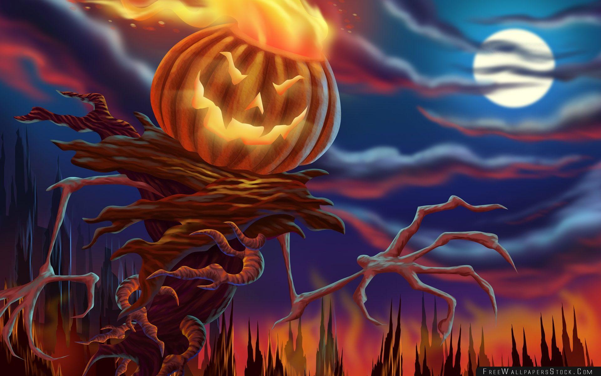 Download Free Wallpaper Pumpkin Monster