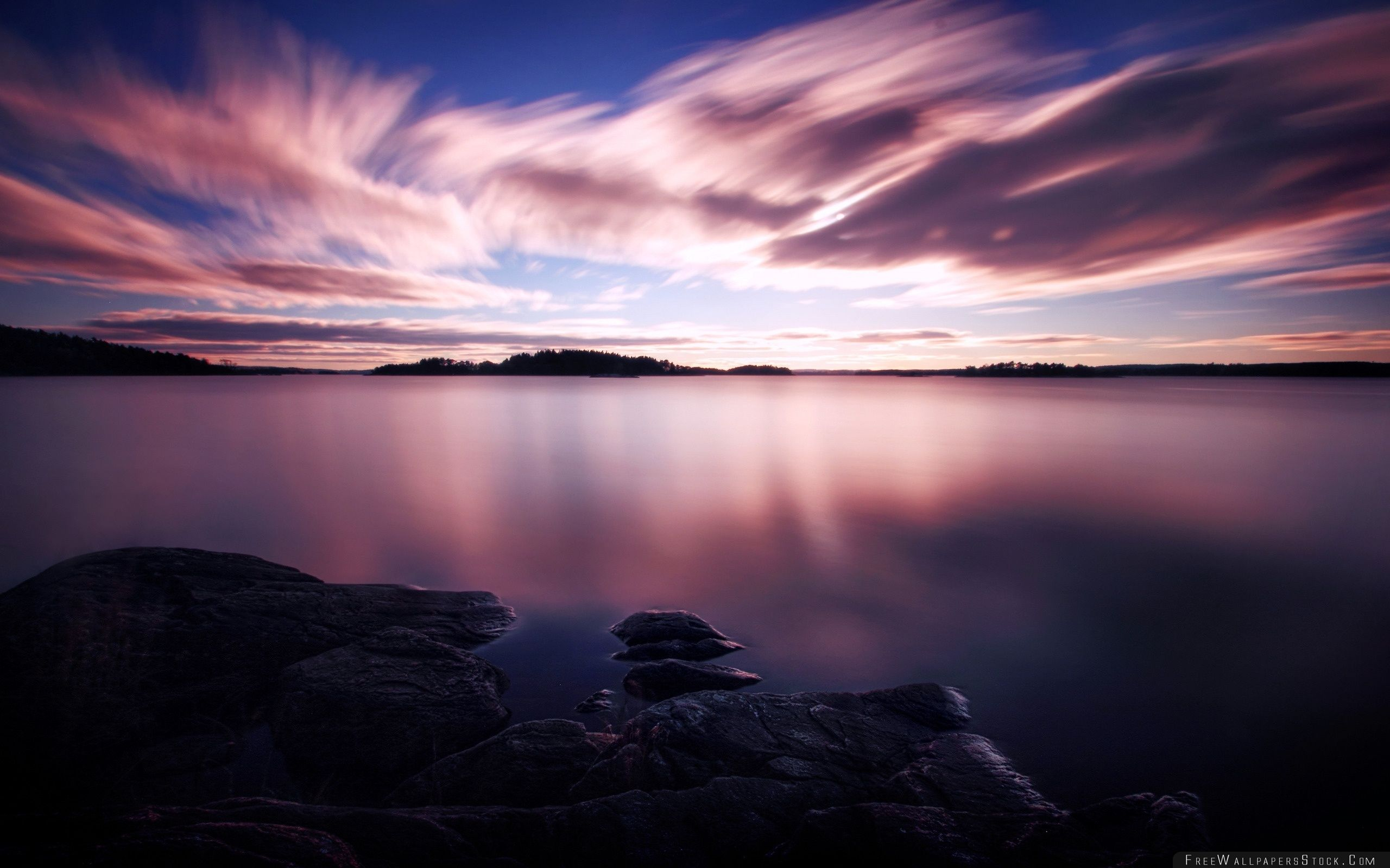 Download Free Wallpaper Purple Evening Light
