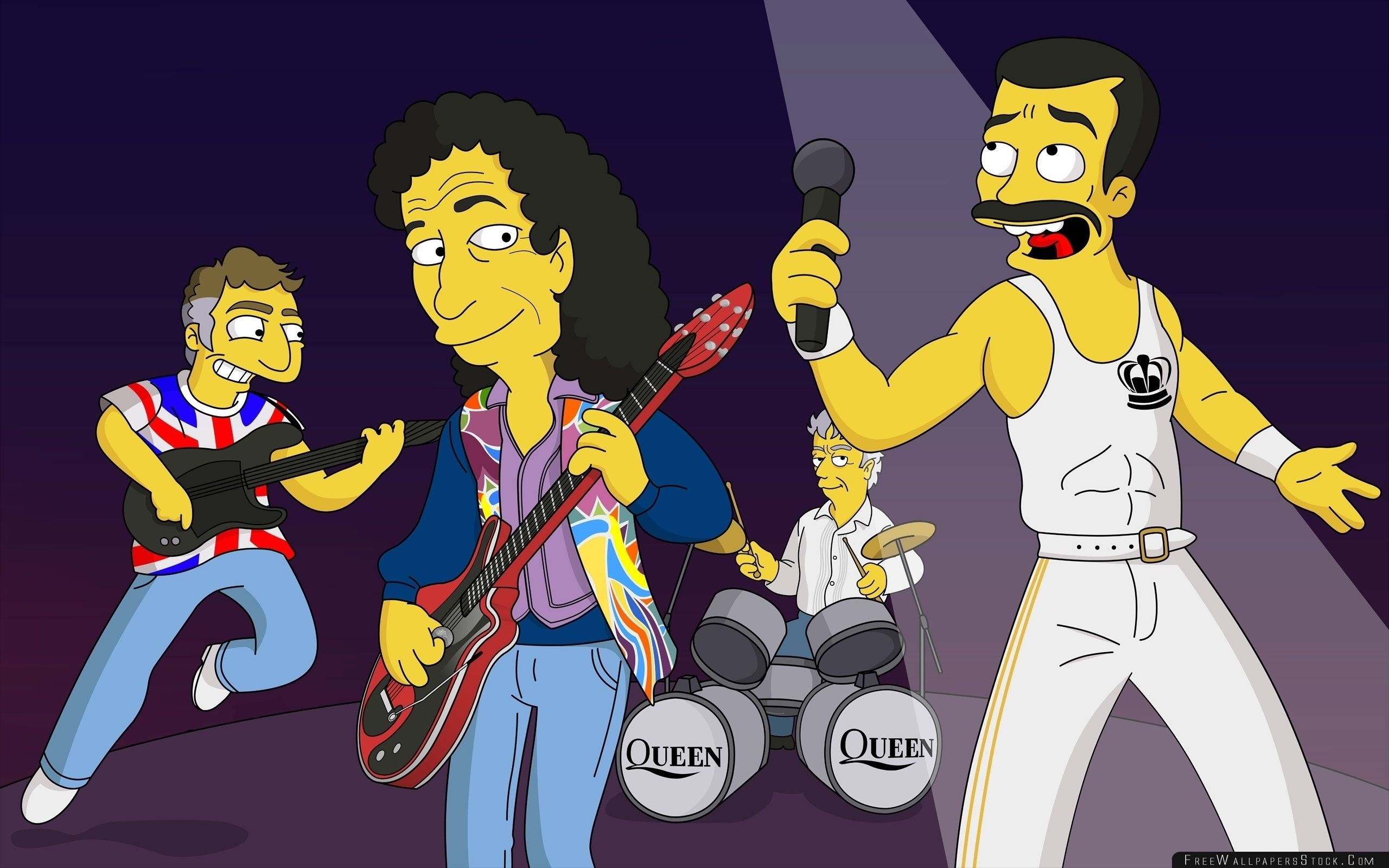 Download Free Wallpaper Queen Band Cartoon