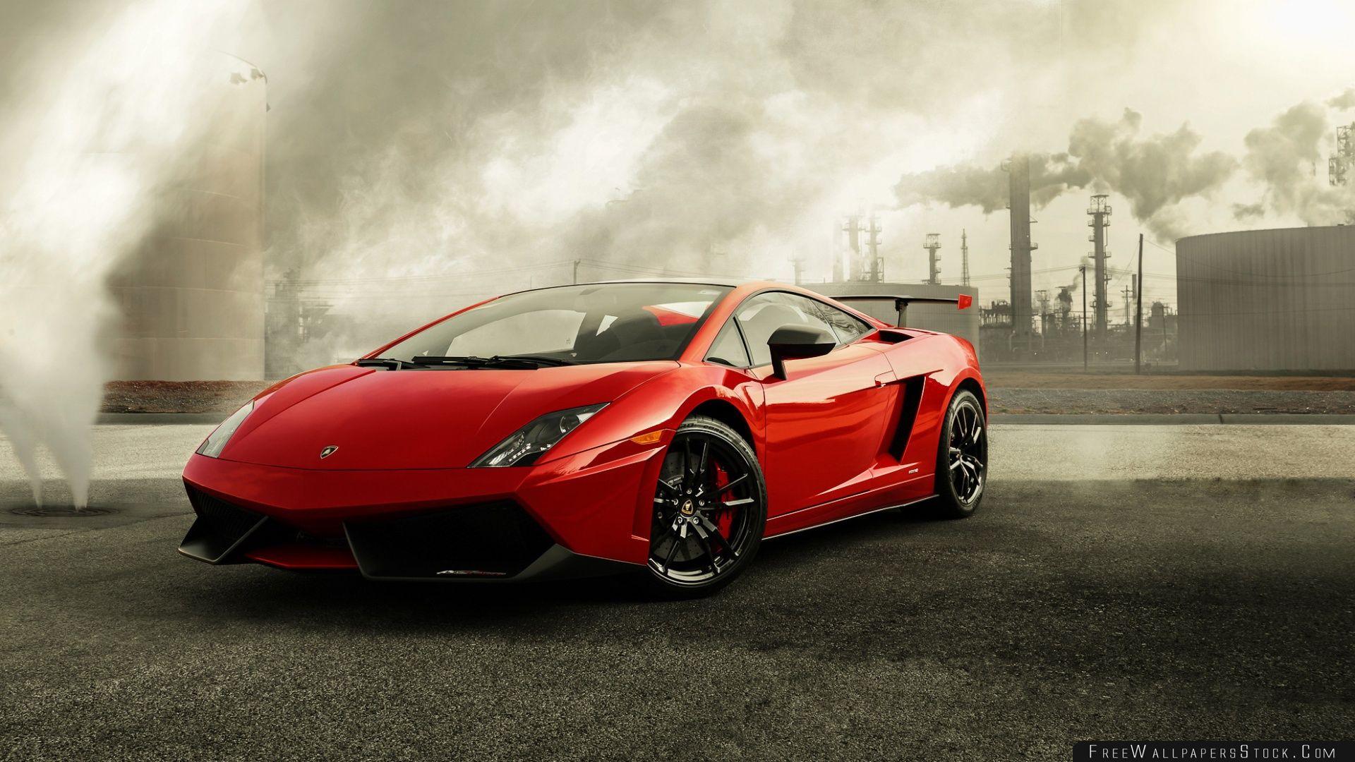 Download Free Wallpaper Red Lamborghini Gallardo