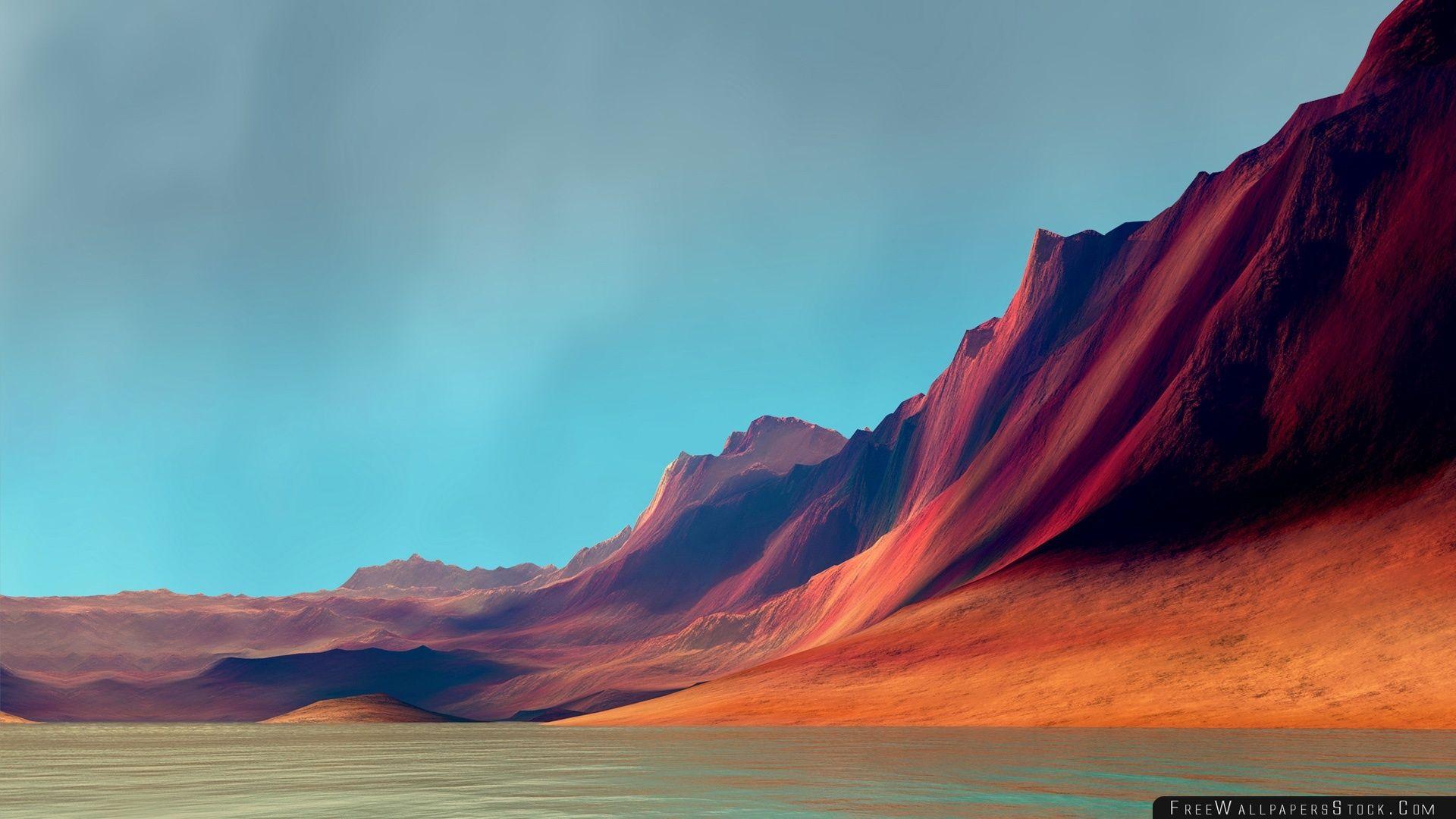 Download Free Wallpaper Red Mountains   Flex