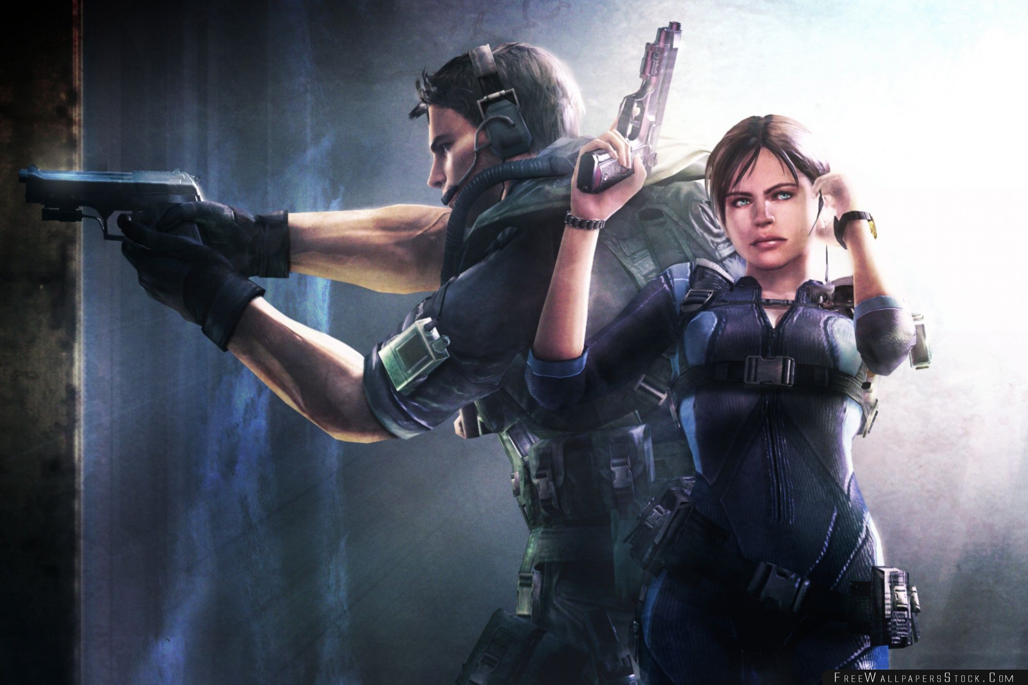 Download Free Wallpaper Resident Evil Revelations Jill And Chris