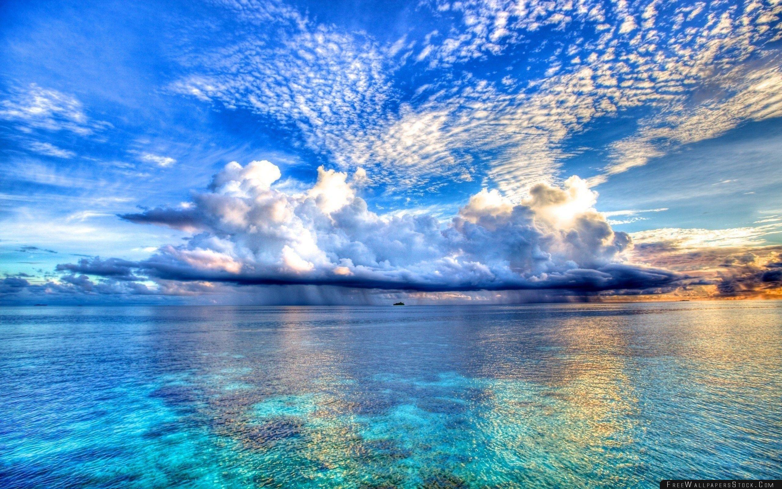 Download Free Wallpaper Sea Rain