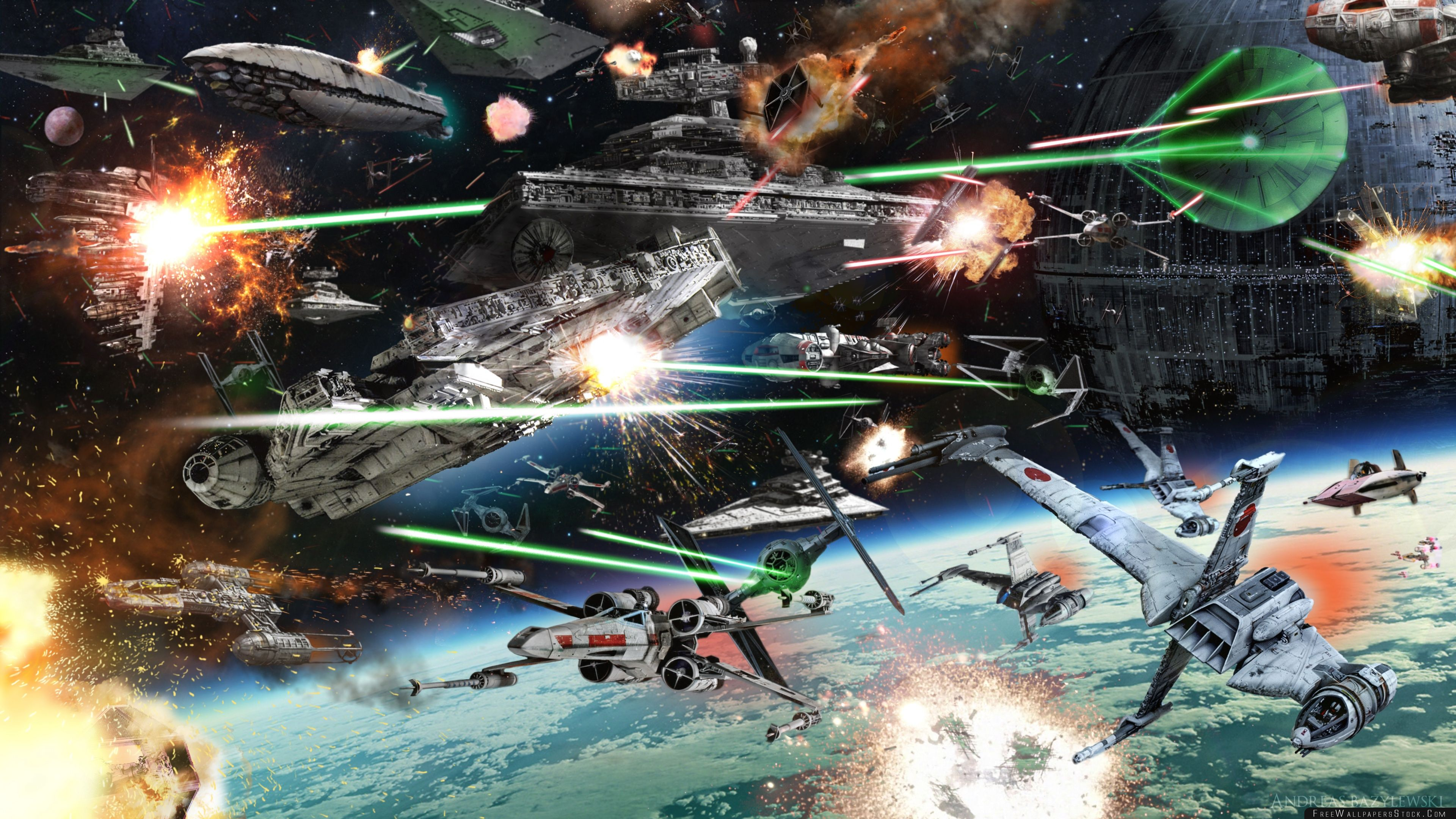 Download Free Wallpaper Star Wars Space Battle