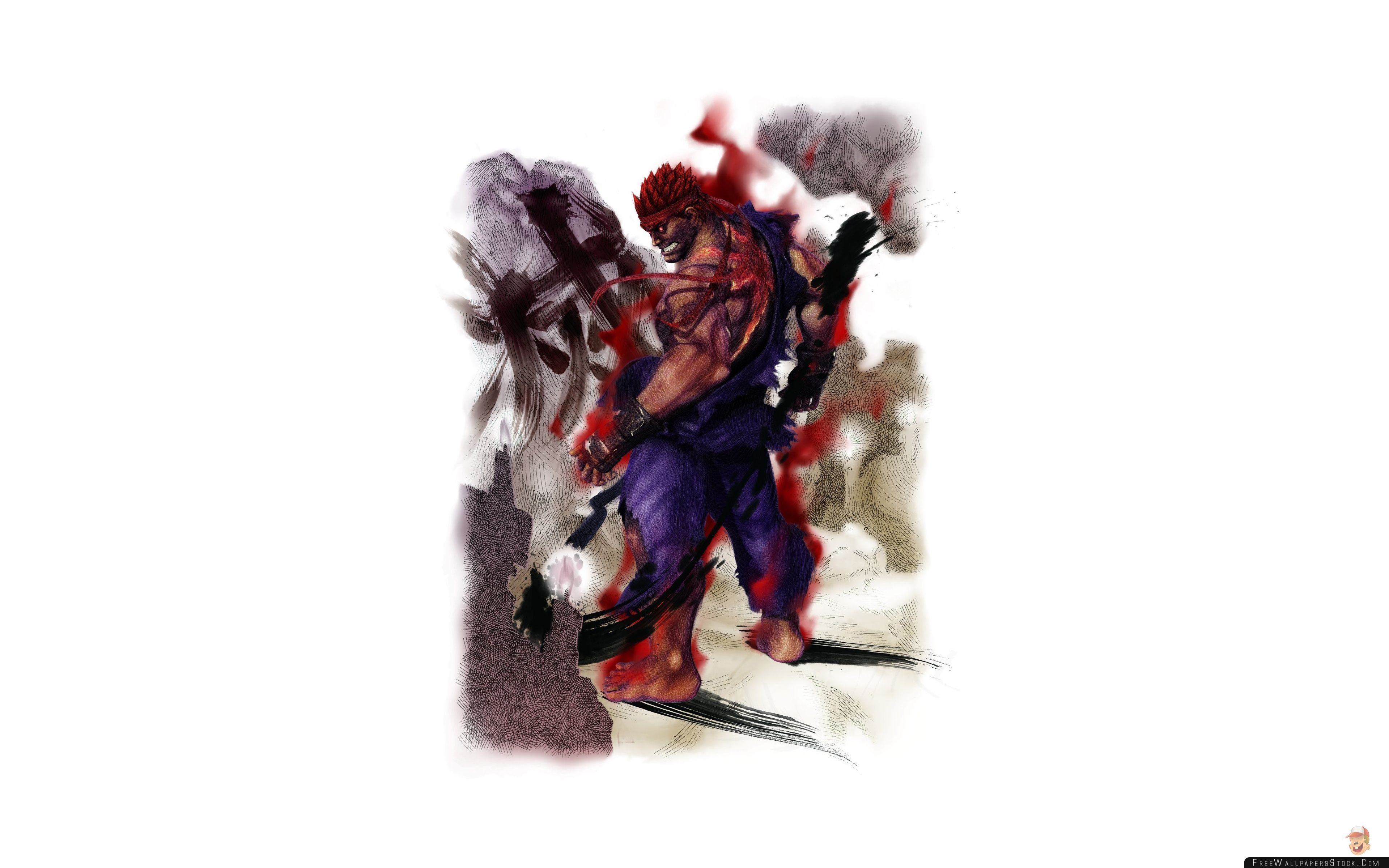 Download Free Wallpaper Street Fighter   Arcade Edition Evil Ryu