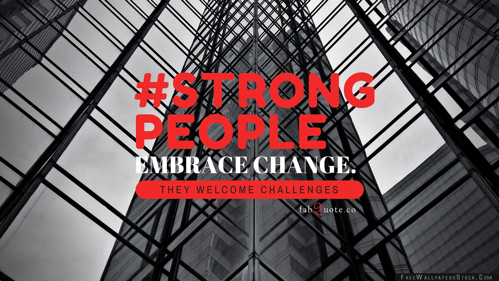 Download Free Wallpaper Strong People Quote