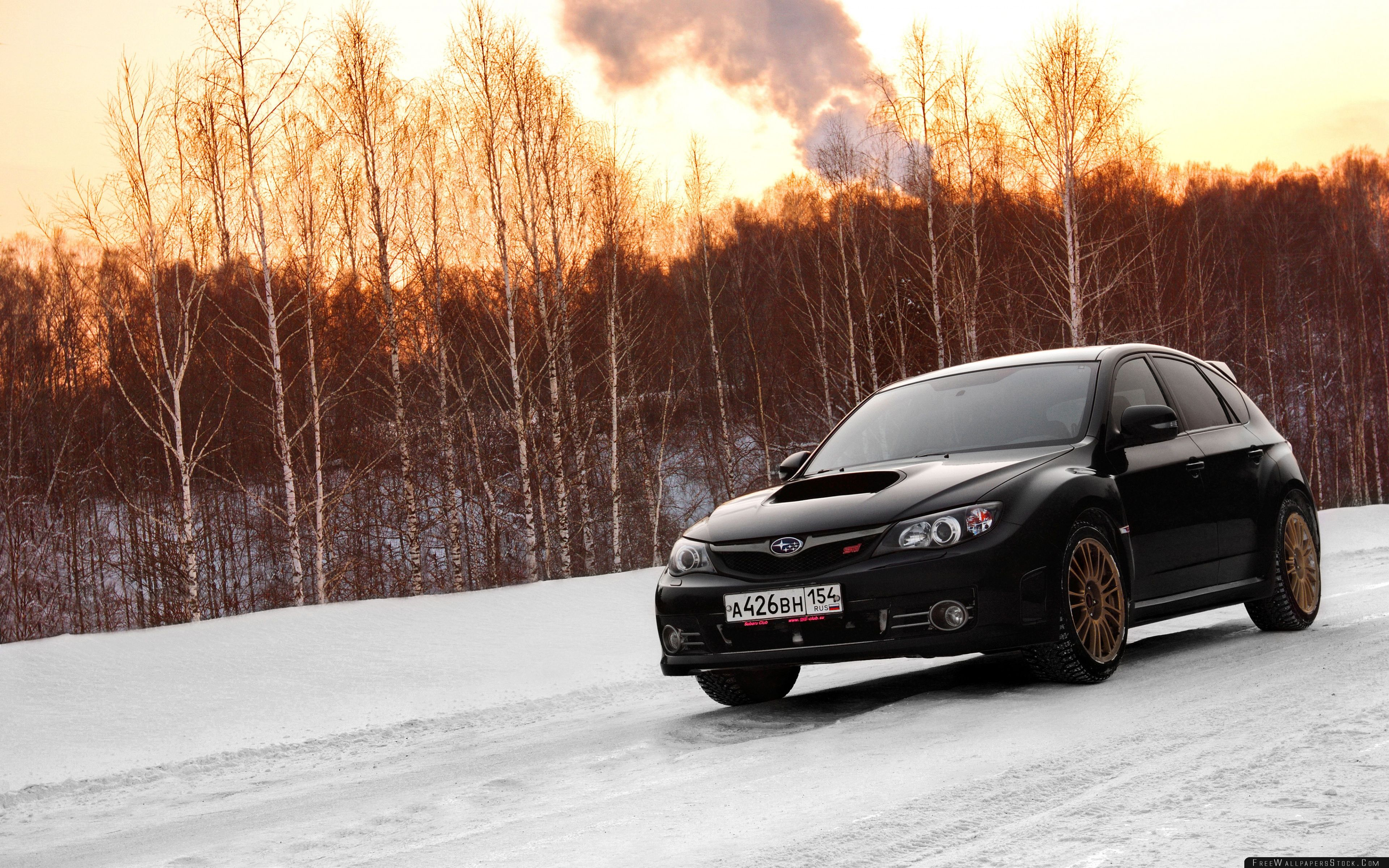 Download Free Wallpaper Subaru Impreza Wrx   Snow