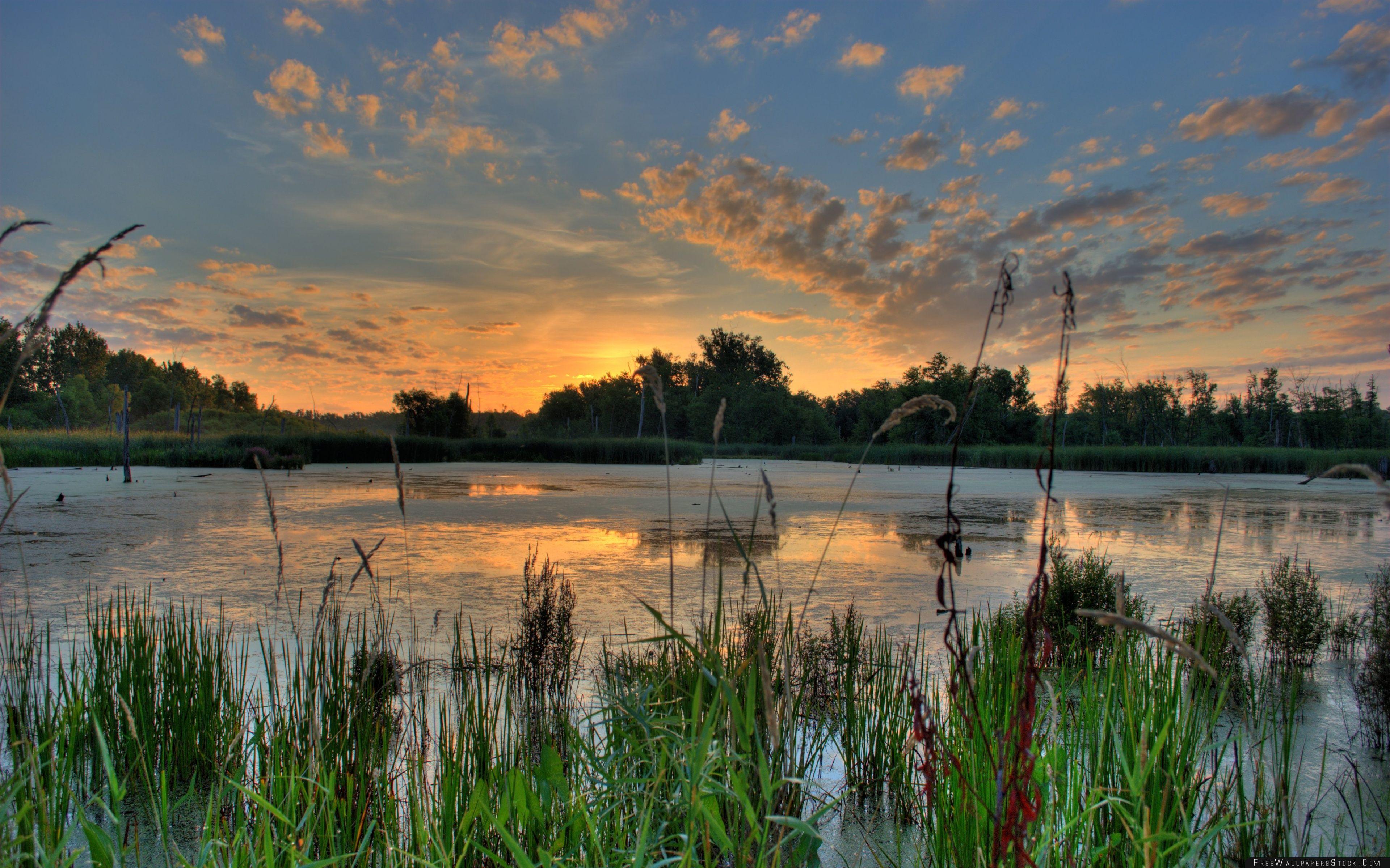 Download Free Wallpaper Sunrise Over   Pond The Minnesota River National Wildlife Refuge