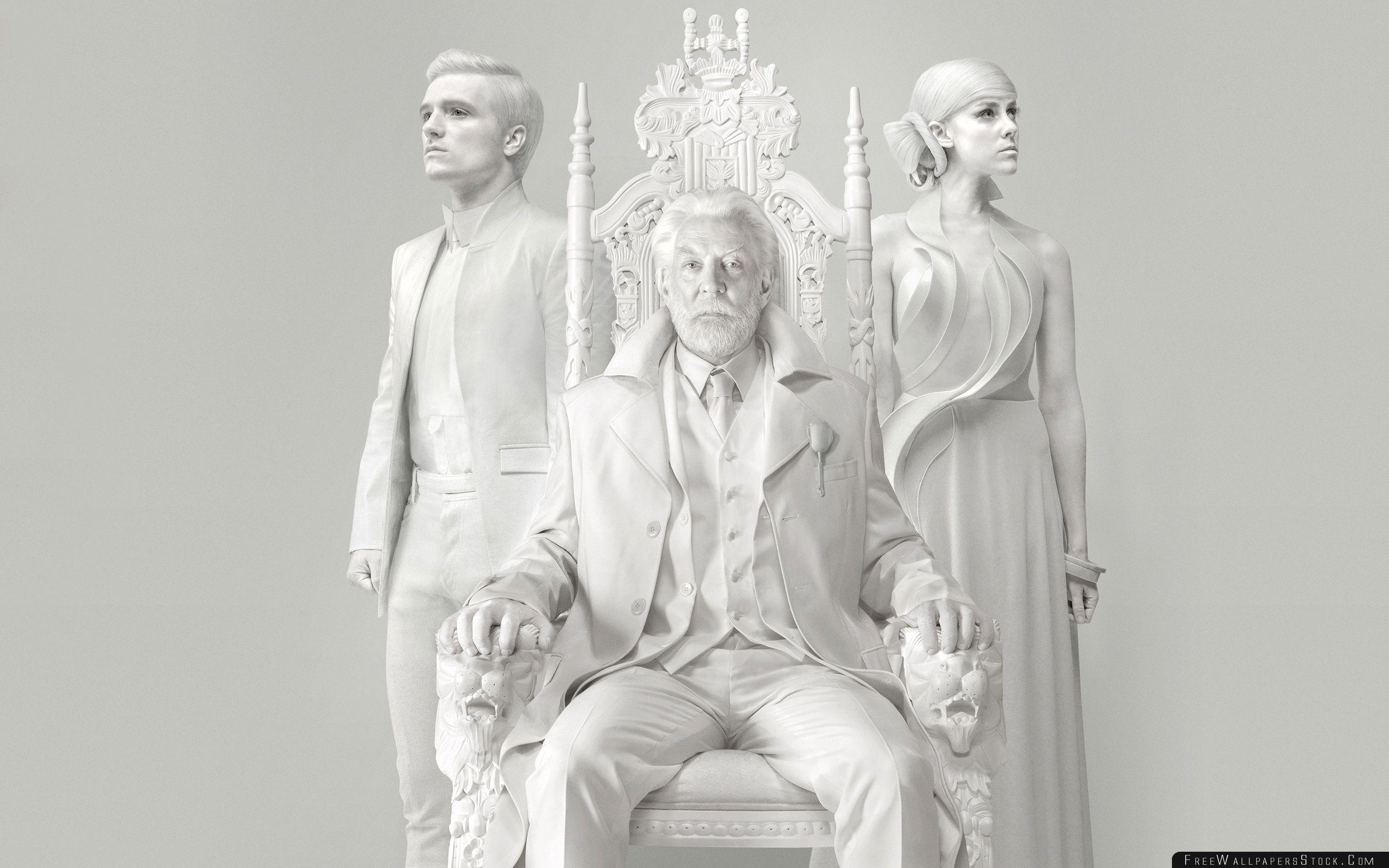 Download Free Wallpaper The Hunger Games Mockingjay Peeta Johanna President Coriolanus Snow